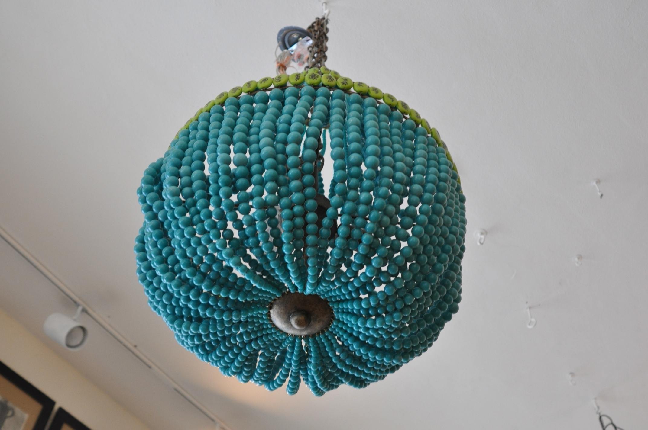 Trendy Beaded Empire Style Chandelier – Mecox Gardens Inside Turquoise Empire Chandeliers (View 20 of 20)