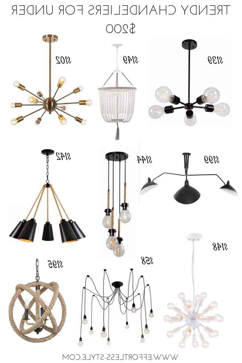 Trendy Chandeliers For Under $200! – Effortless Style Blog Inside Most Recently Released Trendy Chandeliers (View 13 of 20)