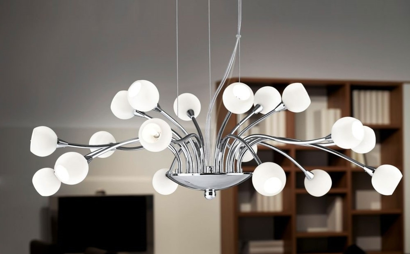 Trendy Chandeliers Pertaining To Newest Chandeliers Design : Magnificent Amusing Two Large Kalmar Pendant (View 8 of 20)