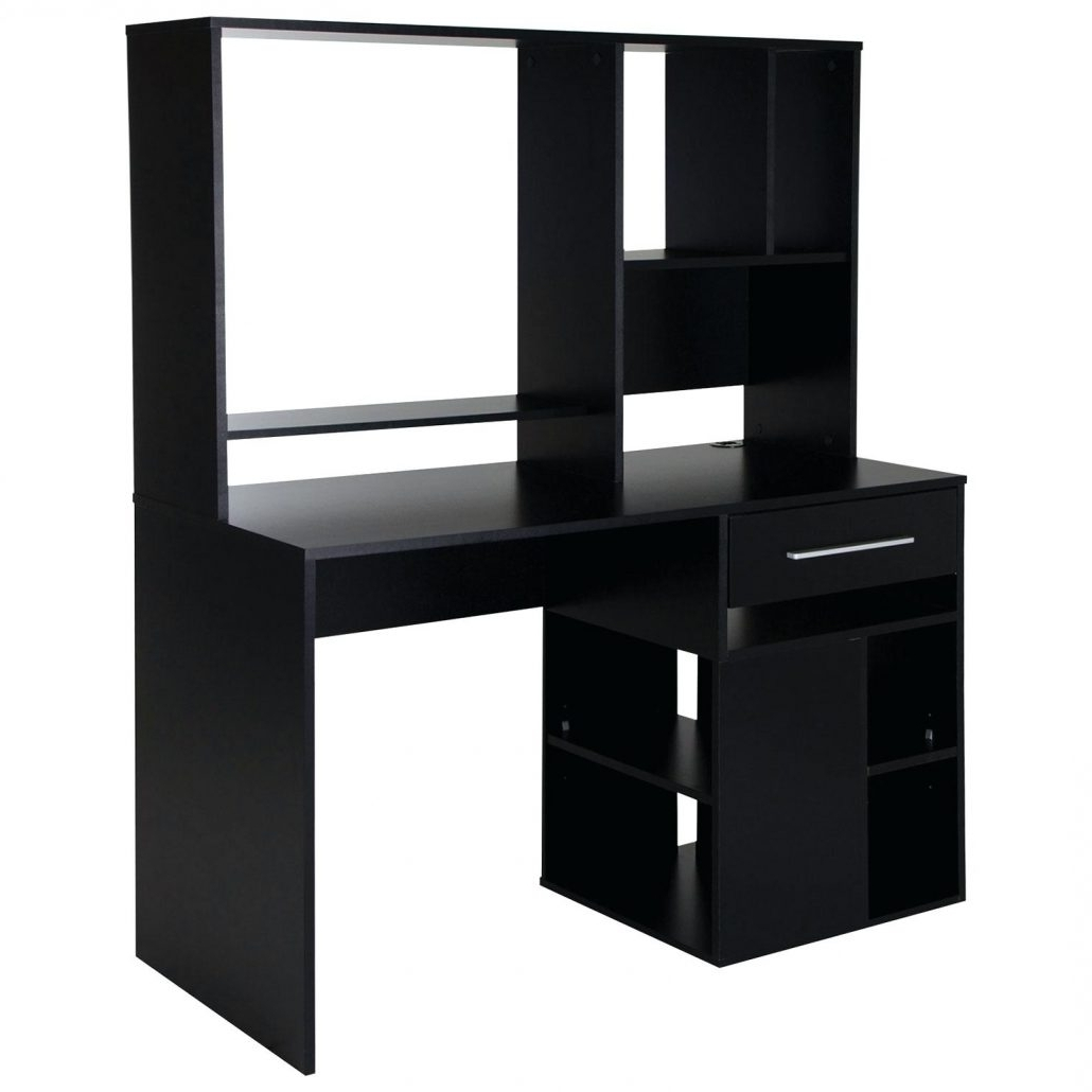 Trendy Computer Desks : Homemade Computer Desk Plans Drawer Pure Black With Computer Desks At Best Buy (View 16 of 20)
