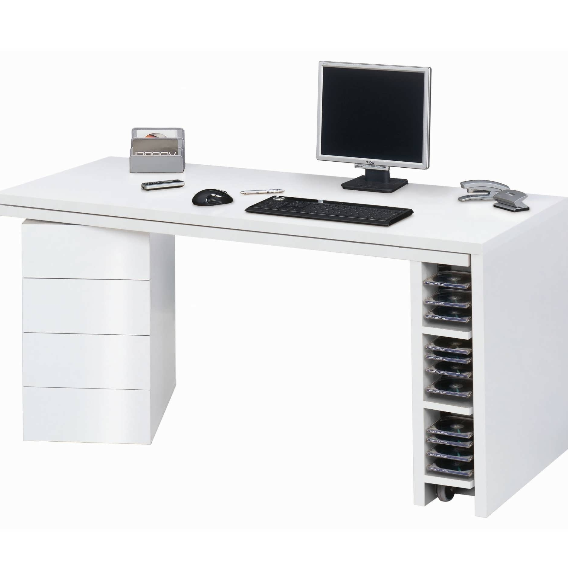 Trendy Computer Desks In White With Office Desk : Small Computer Desk Small White Computer Desk Home (Gallery 7 of 20)
