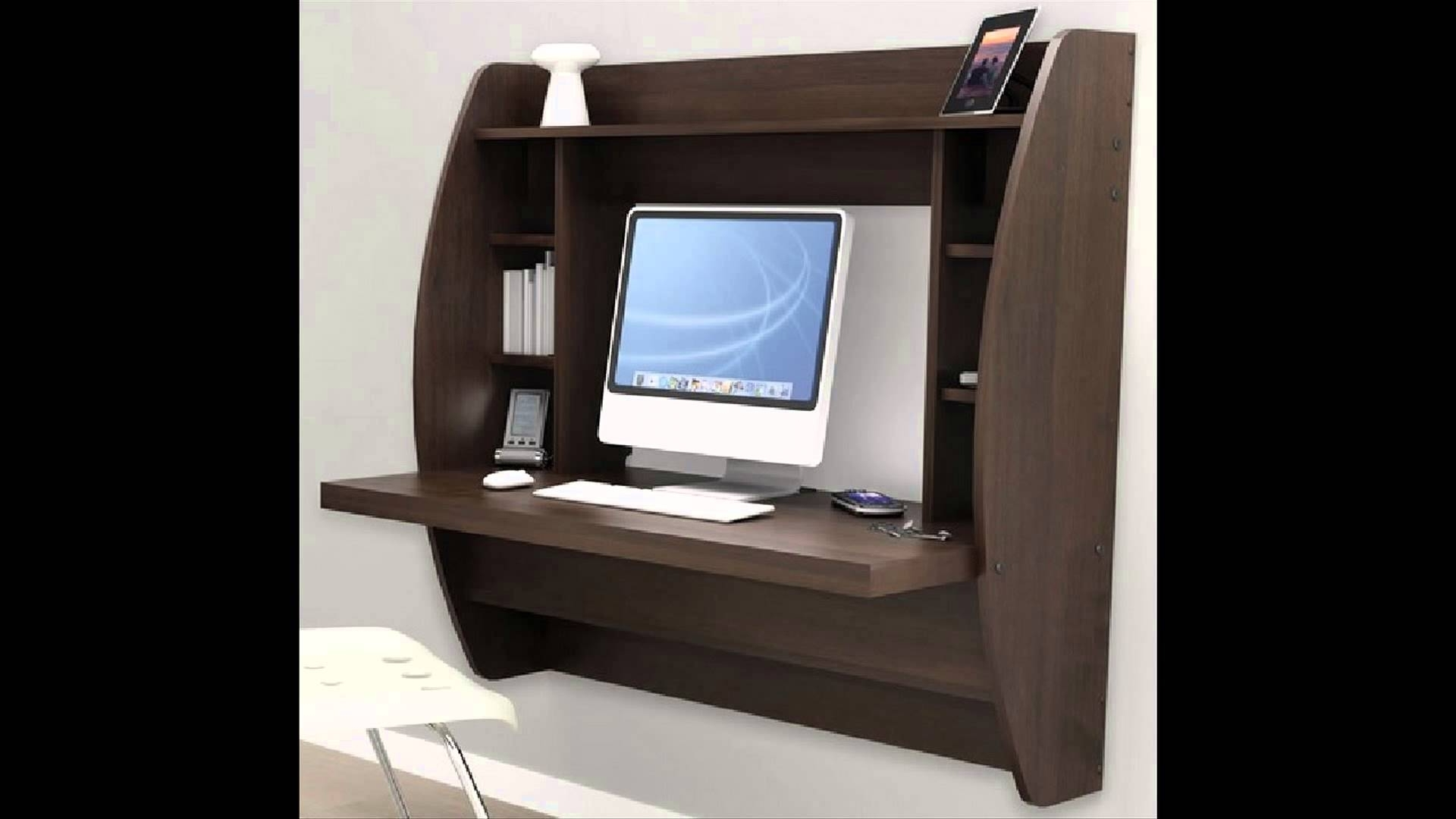 Trendy Computer Desks With Monitor Mount Pertaining To Beautiful Wall Mounted Computer Desk – Youtube (View 14 of 20)