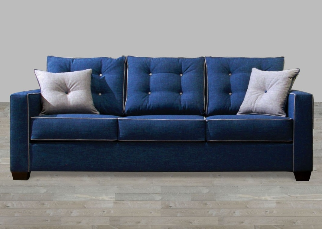 Trendy Contemporary Fabric Sofas For Contemporary Blue Fabric Sofa (View 2 of 20)