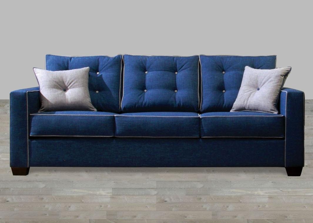 Trendy Contemporary Fabric Sofas For Contemporary Blue Fabric Sofa (View 17 of 20)