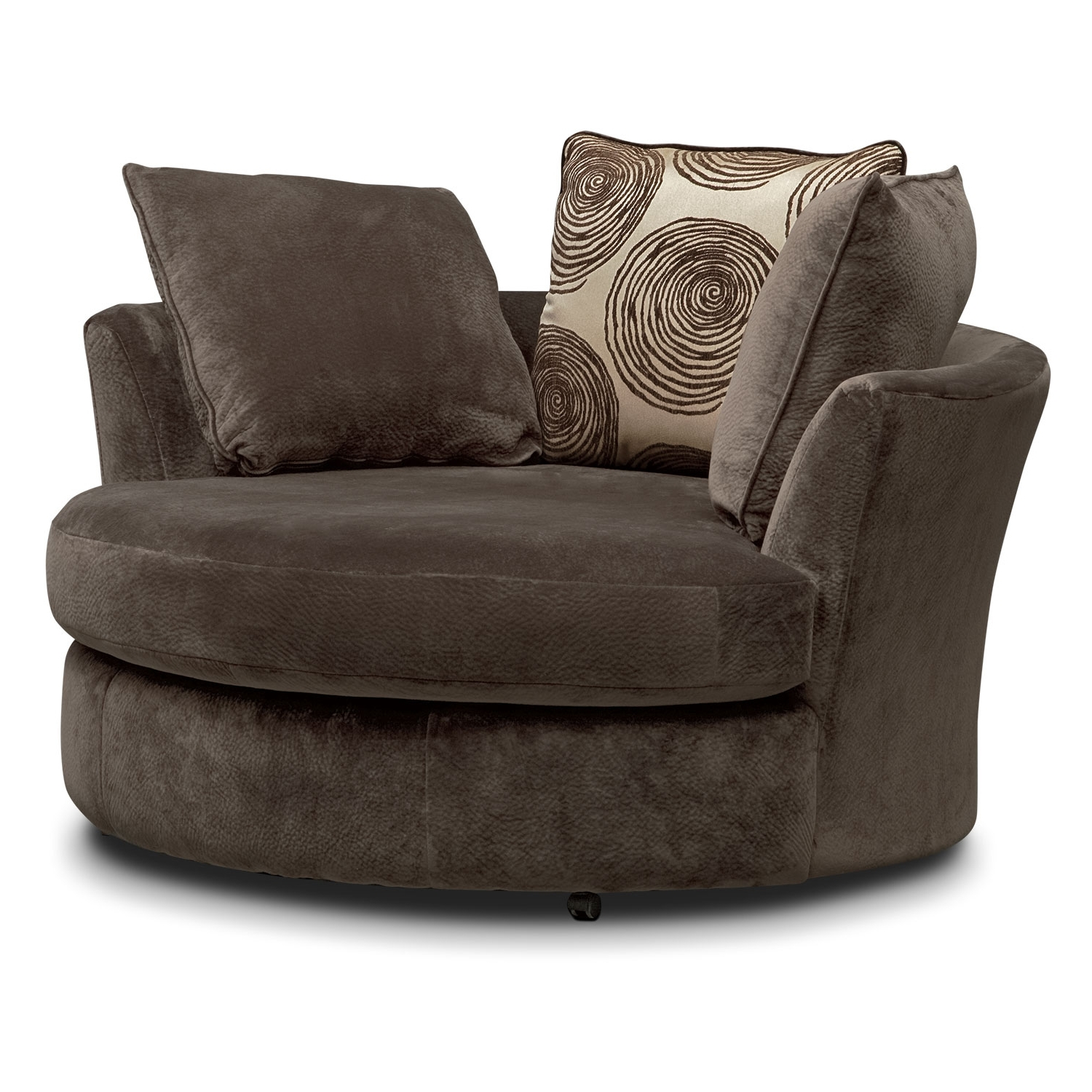 Trendy Cordelle Swivel Chair – Chocolate (View 20 of 20)