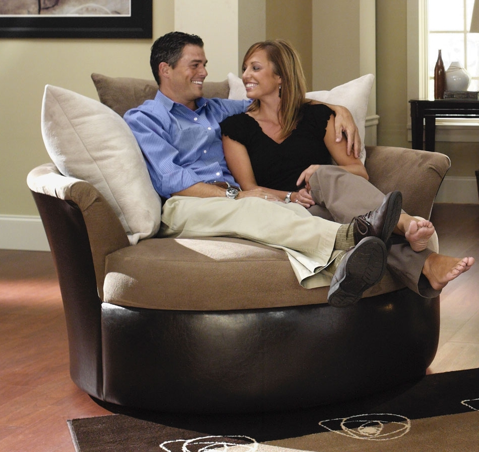 Trendy Cuddler Swivel Sofa Chairs Within Sonoma Cuddler Swivel Chair – Jackson Furniture (View 19 of 20)