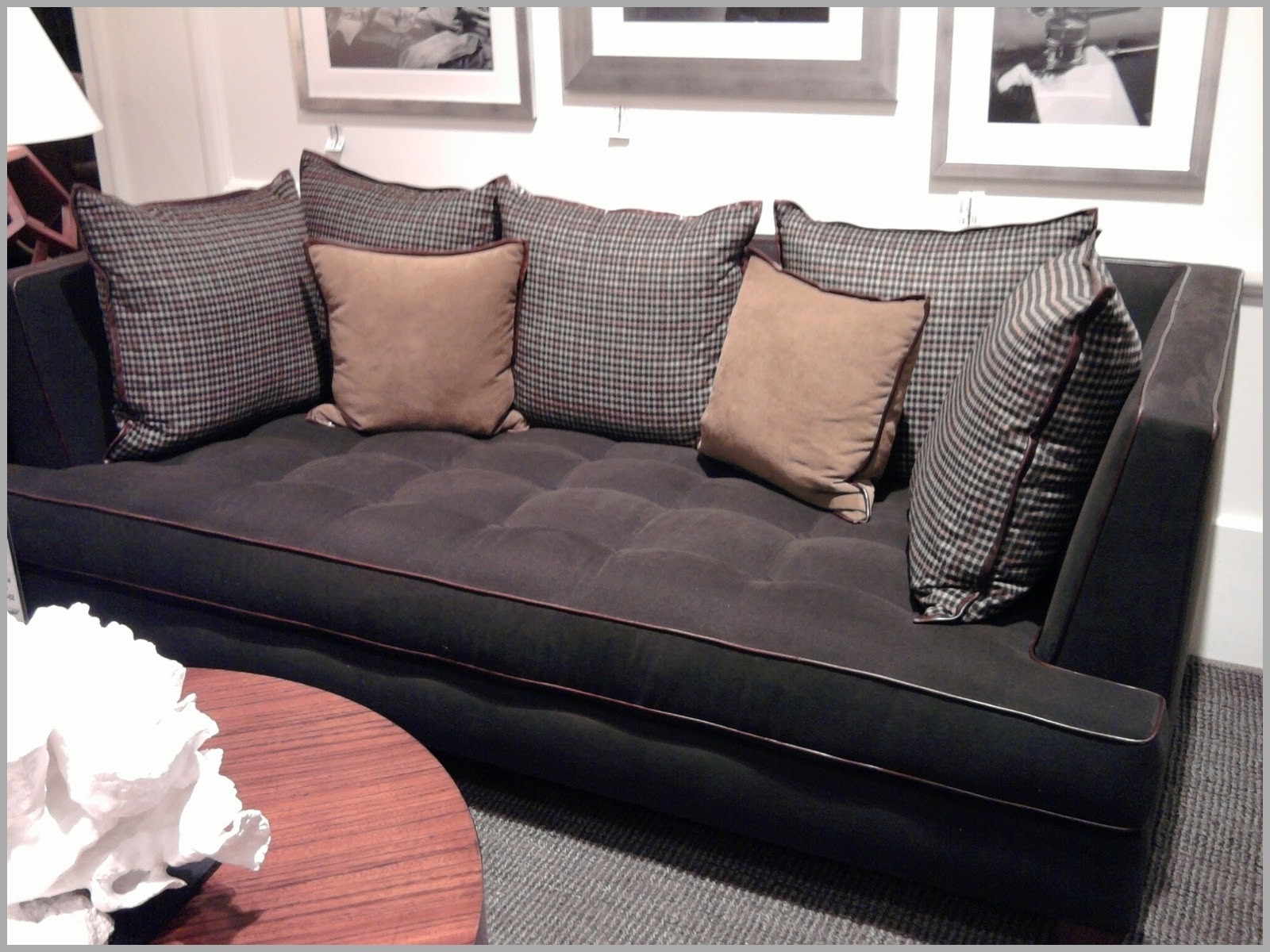 Trendy Deep Cushion Sofas With Sofas : Curved Sectional Sofa Modern Sofa Deep Cushion Couch (View 6 of 20)