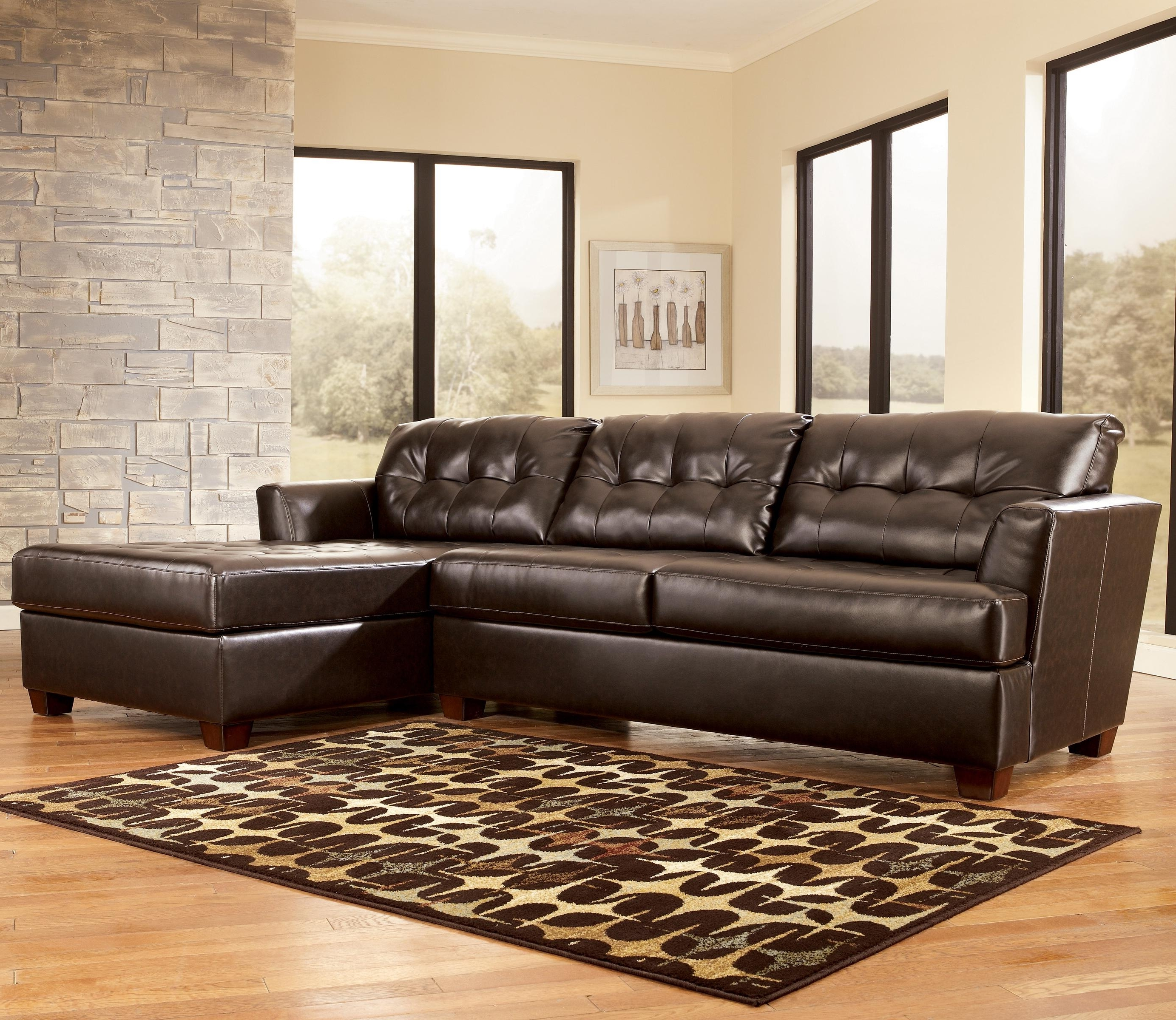 Trendy Dixon Durablend – Chocolate Sectional Sofasignature Design Inside Home Furniture Sectional Sofas (View 20 of 20)