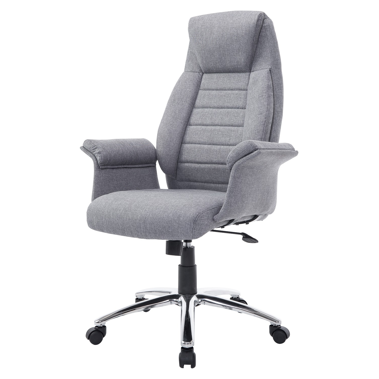 Trendy Fabric Executive Office Chairs Regarding Homcom Executive Heated Massage Office Chair – Cream (View 20 of 20)