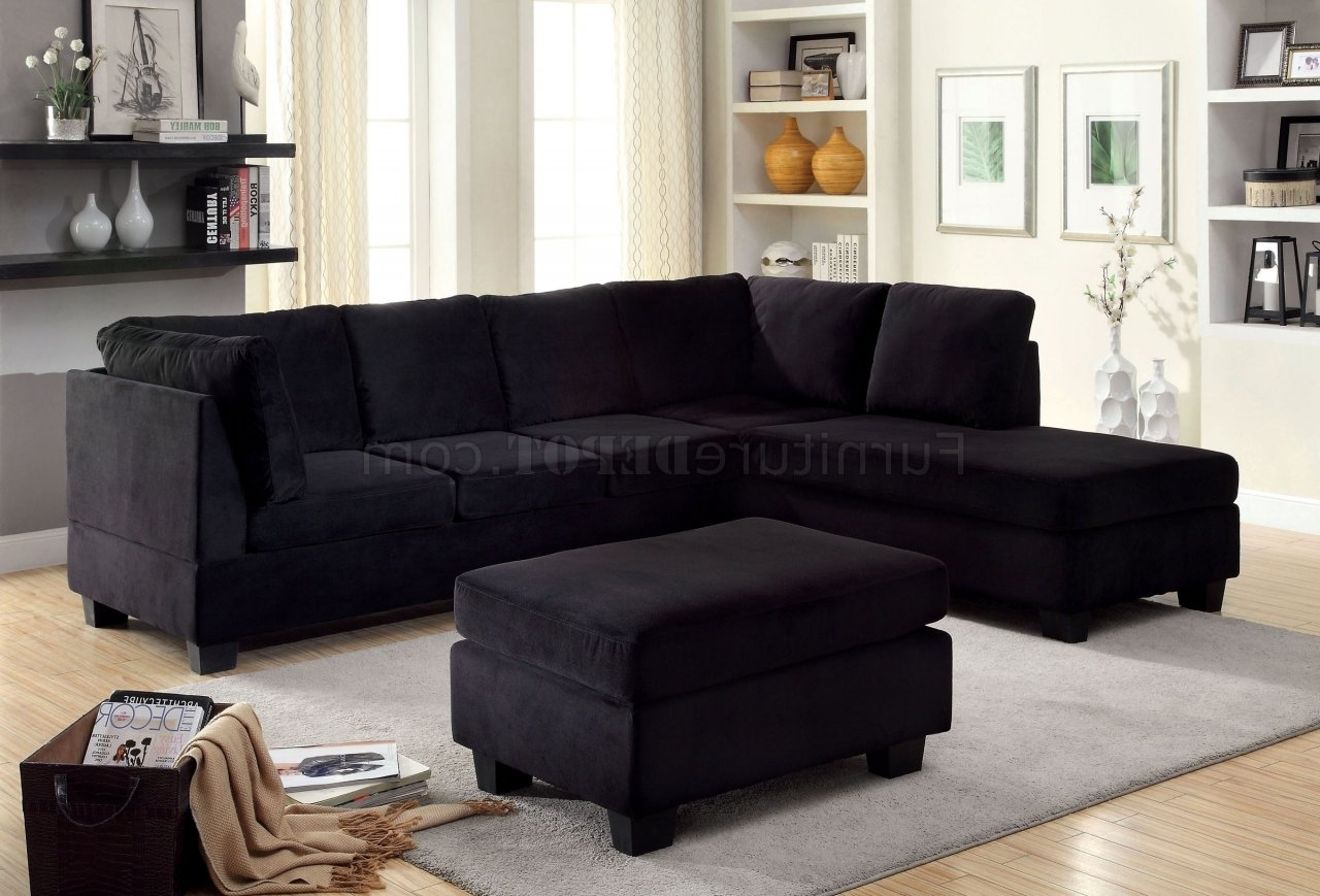 Trendy Fabric Sectionals – Microfiber Sectional Sofas, Microsuede Inside Black Leather Sectionals With Ottoman (View 19 of 20)