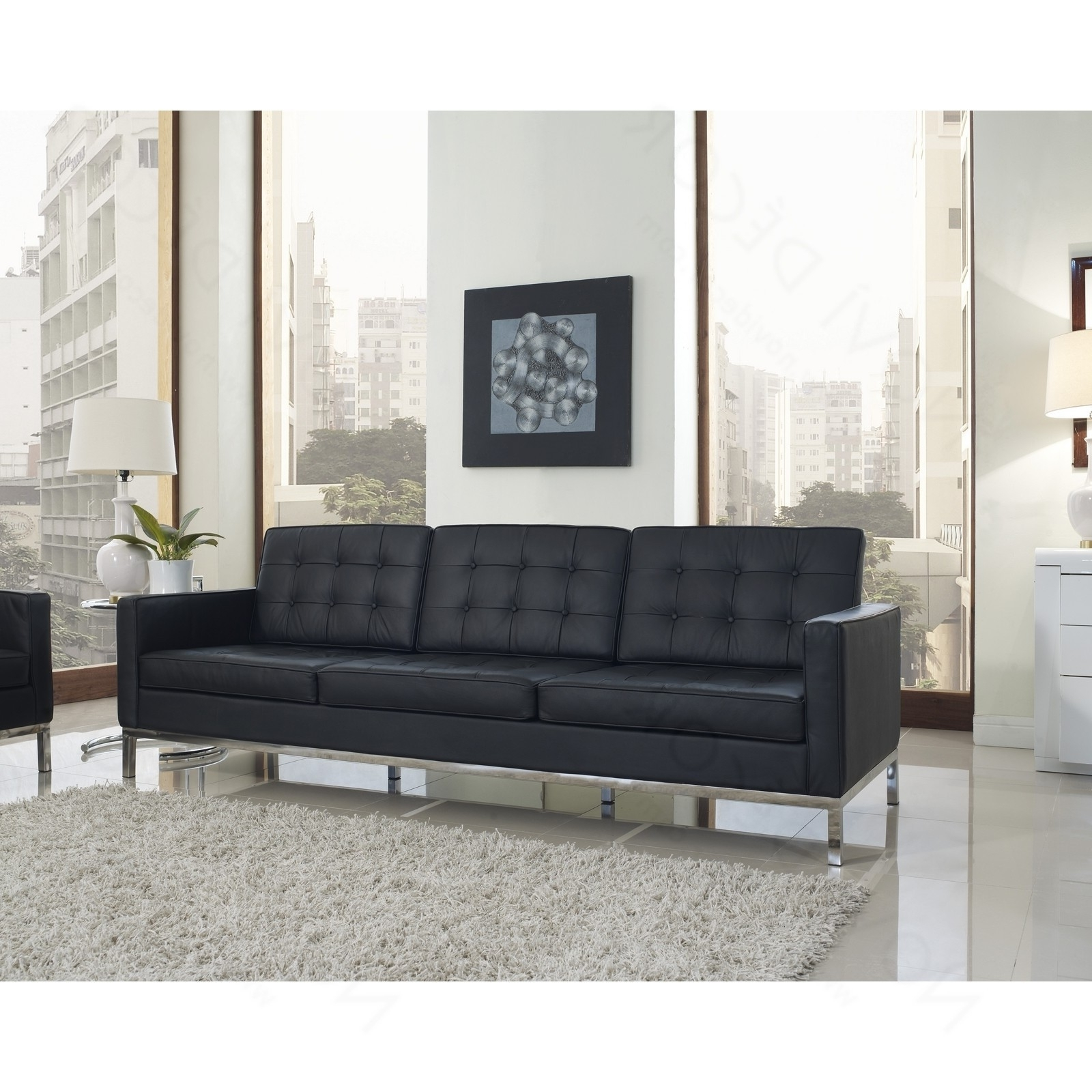 Trendy Florence Knoll Leather Sofas With Florence Knoll Ledersofa – Dreisitzer Sofa Einrichtung Für Das (View 13 of 20)