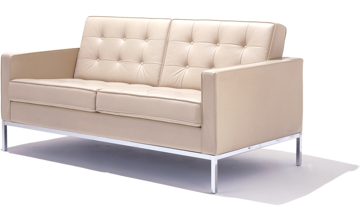 Trendy Florence Knoll Settee – Hivemodern Throughout Florence Sofas And Loveseats (View 16 of 20)