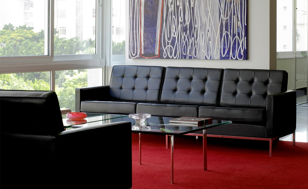 Trendy Florence Leather Sofas For Florence Knoll 3 Seat Sofa – Hivemodern (View 19 of 20)