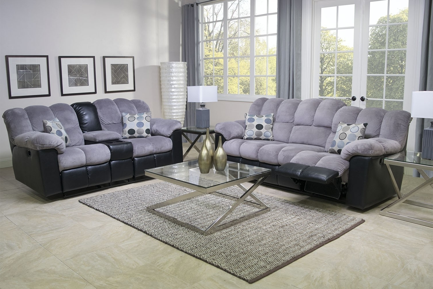 Trendy Fountain Gray Reclining Sofa Living Room/sofas (View 18 of 20)