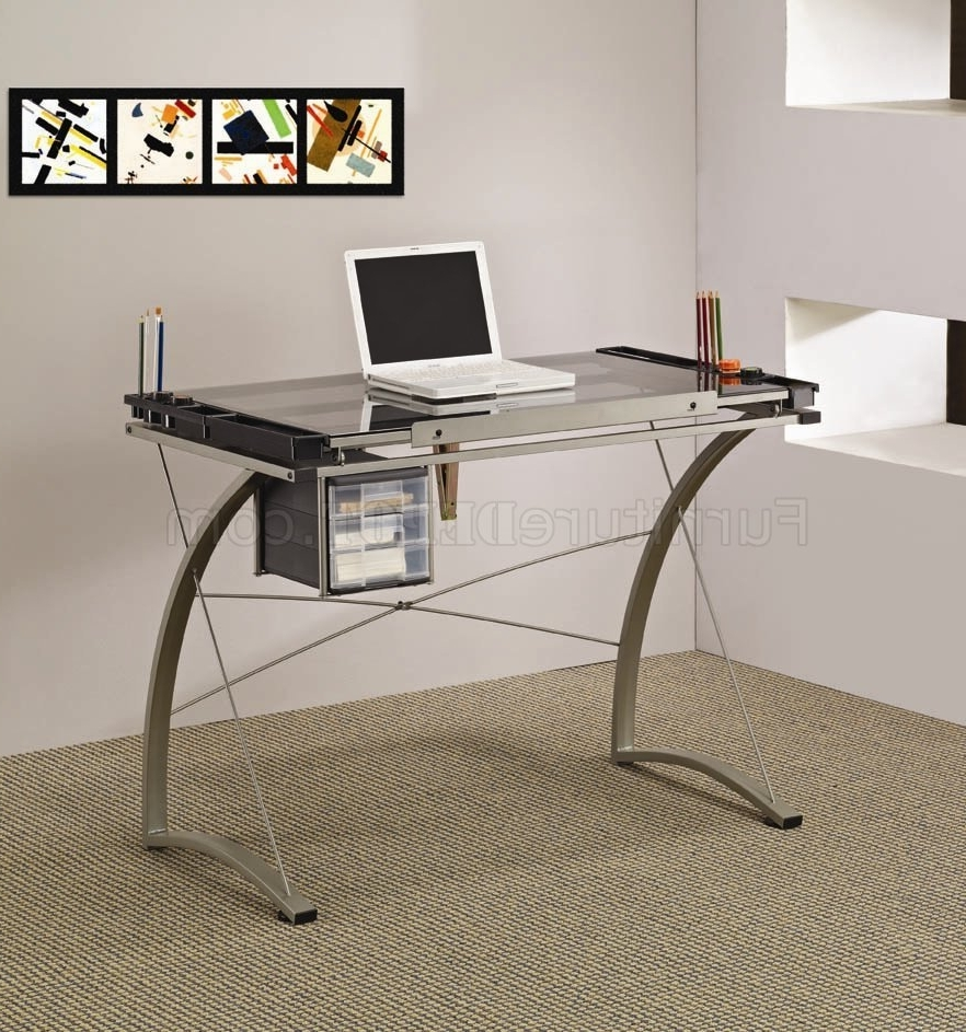 Trendy Glass And Metal Computer Desks For Glass Office Table Metal And Glass Modern Computer Office Desk (View 12 of 20)
