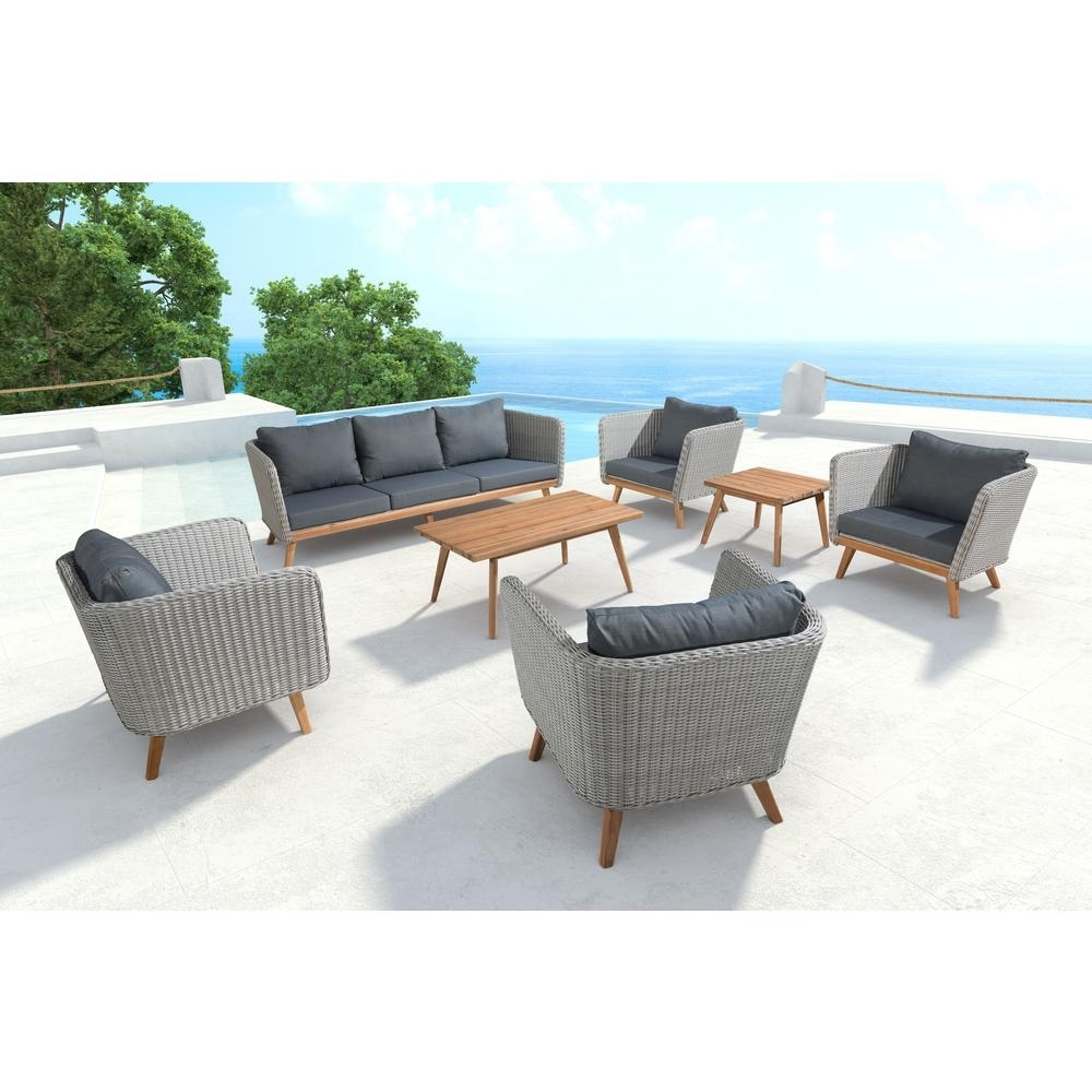 Trendy Gray – Outdoor Sofas – Outdoor Lounge Furniture – The Home Depot Inside Patio Sofas (View 18 of 20)