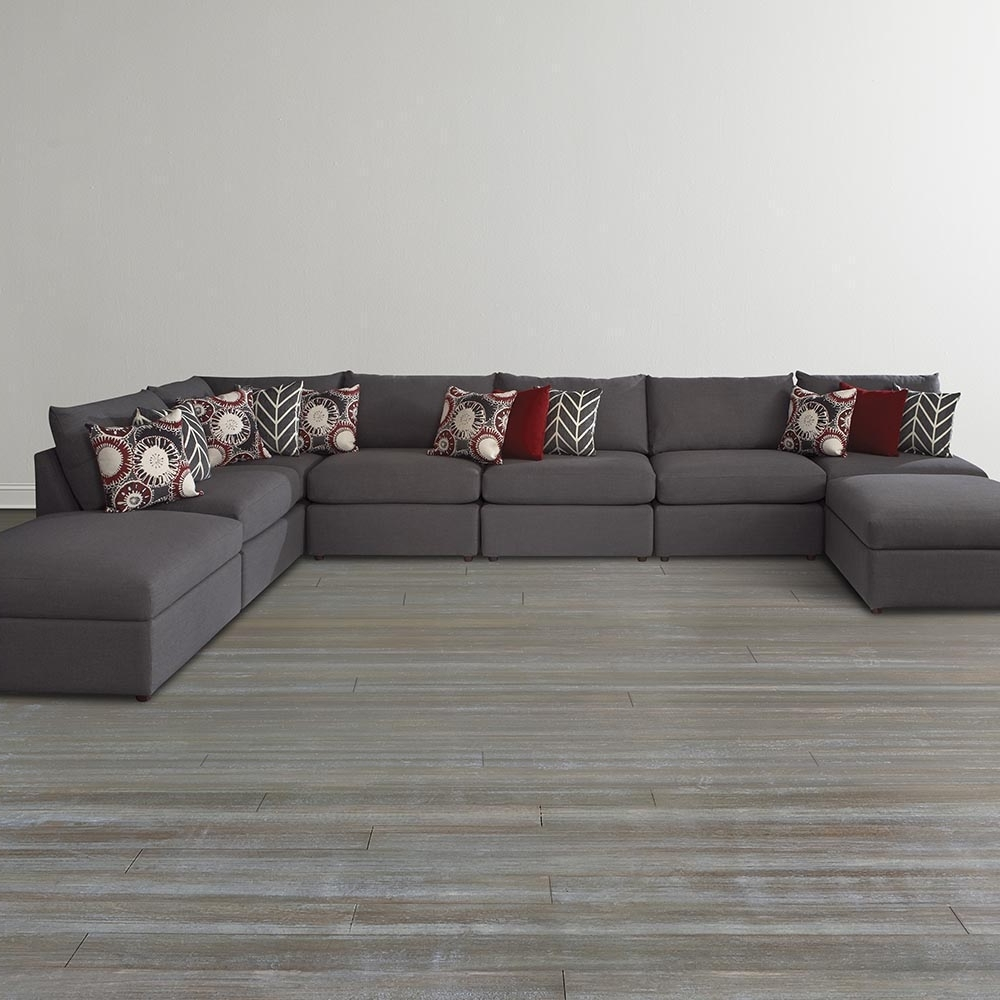 Trendy Gray U Shaped Sectional Sofa — Fabrizio Design : Fashionable U Regarding Gray U Shaped Sectionals (View 19 of 20)