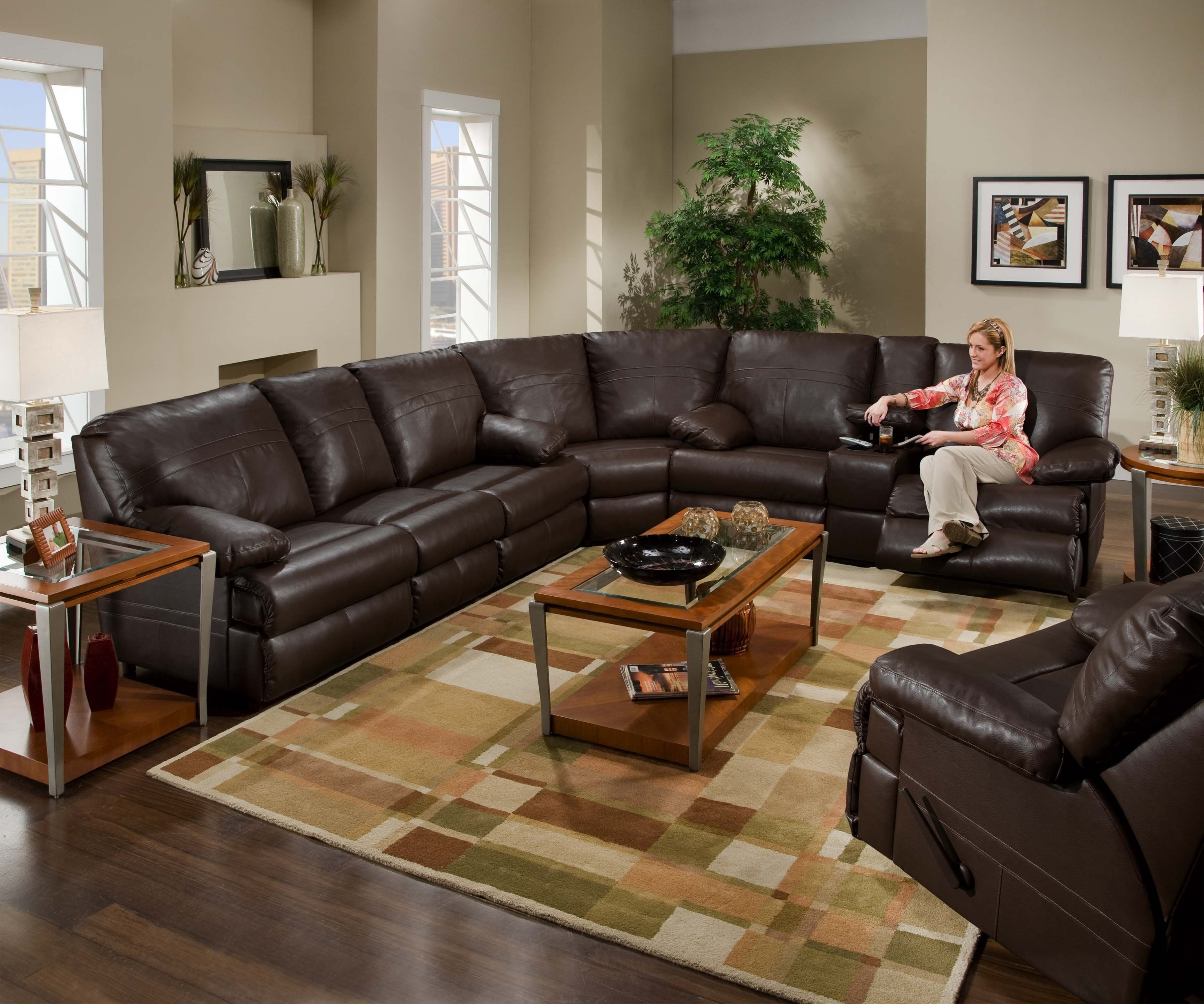 Trendy Halifax Sectional Sofas Pertaining To Sectional Leather Couch With Recliners. (View 17 of 20)