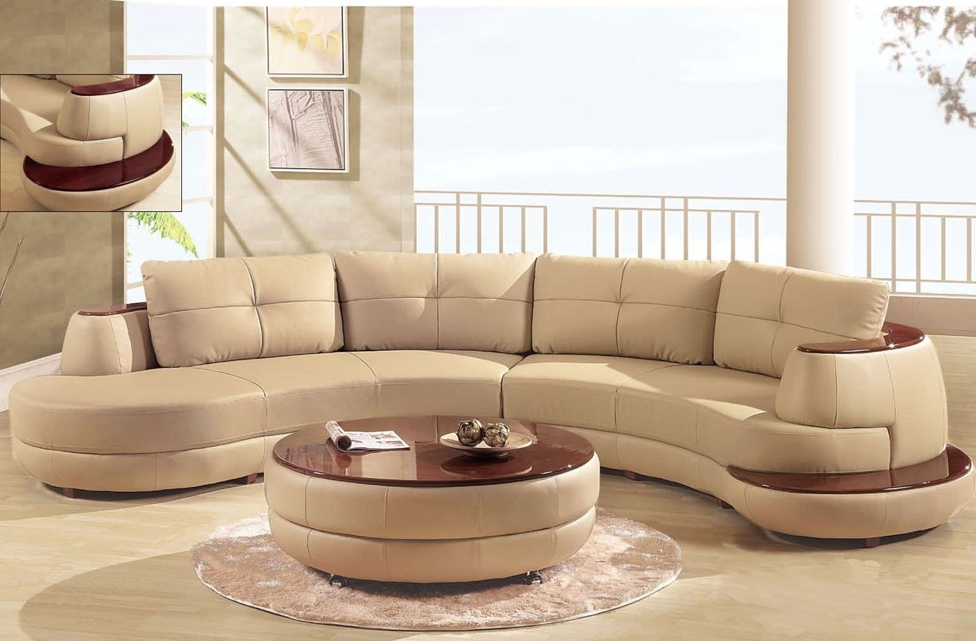 Trendy Homemakers Sectional Sofas With Regard To Charming Two Tones Modern Sectional Sofa Design In Brown And White (View 17 of 20)