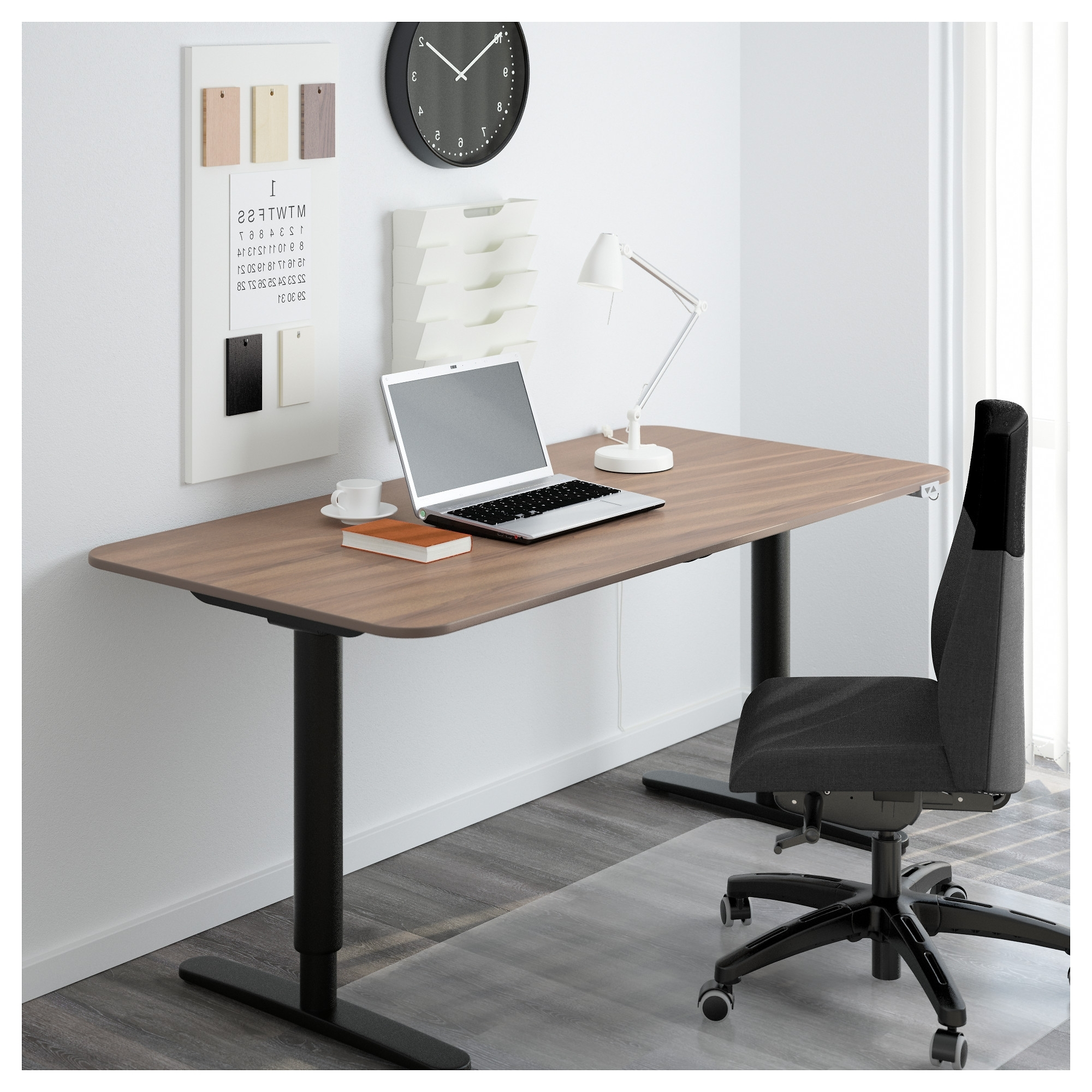 Trendy Ikea Galant Computer Desks Intended For Bekant Desk Sit/stand – Black Brown/white – Ikea (View 16 of 20)