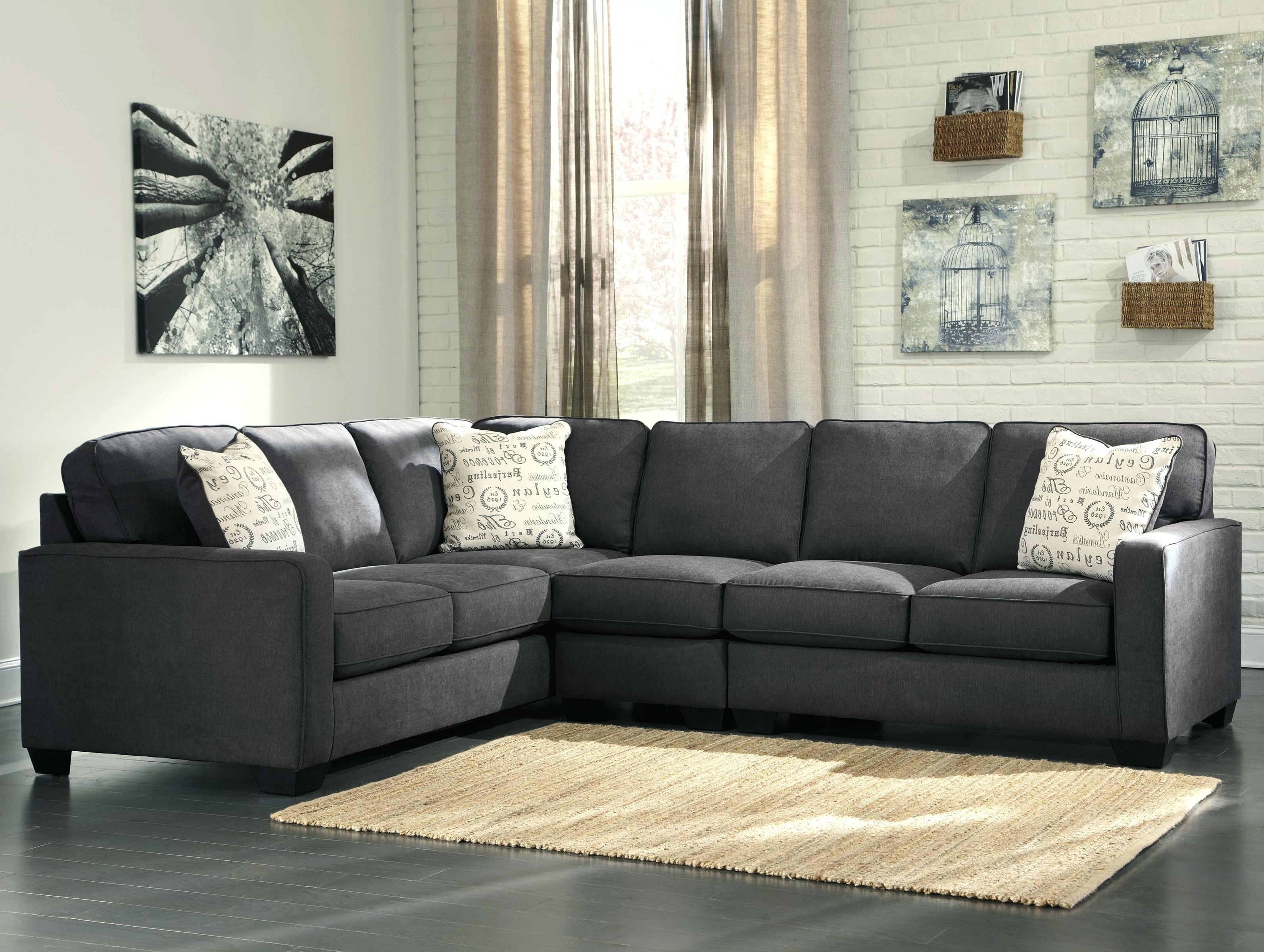 Trendy Johnny Janosik Sectional Sofas Inside Signature Designashley Jinllingsly Contemporary 3 Piece  (View 19 of 20)