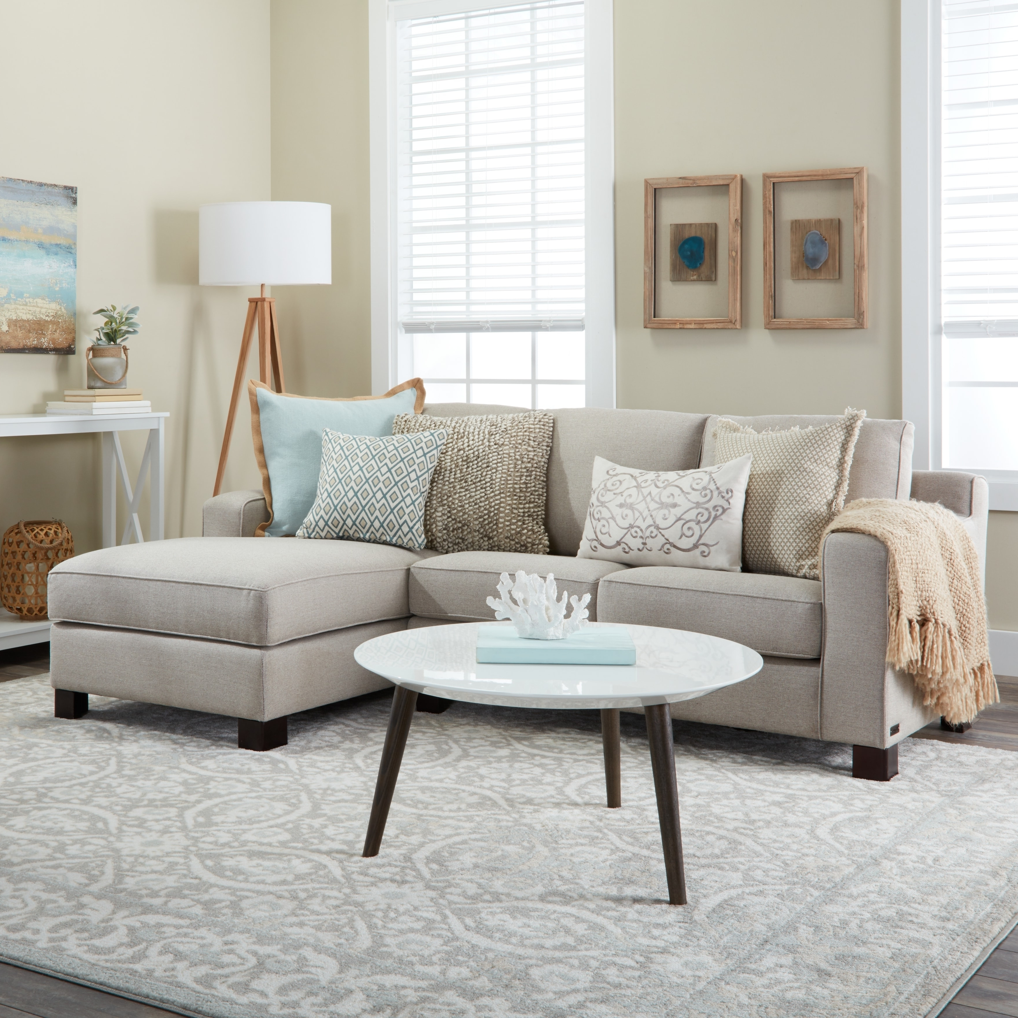Trendy Light Grey Sectional Sofas With Regard To Sectional Sofa With Chaise In Light Grey – Free Shipping Today (Gallery 19 of 20)