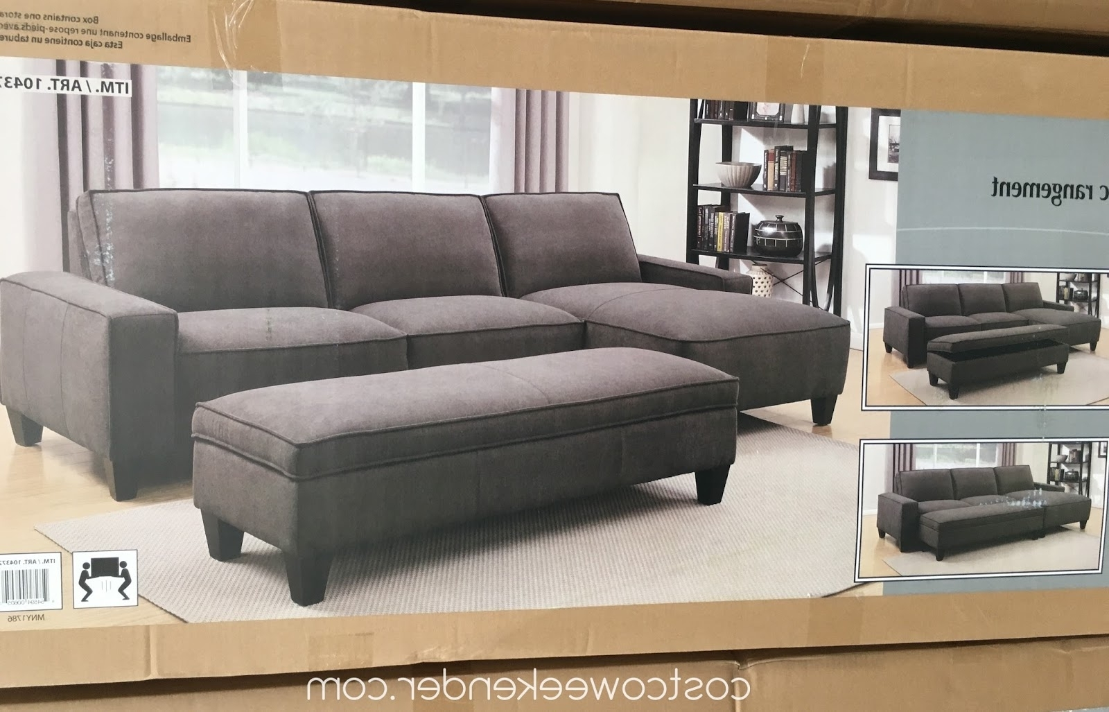 Trendy Lively Chaise Sofa With Storage Ottoman – Best Sectional Sofa Ideas For Sectional Sofas With Chaise And Ottoman (View 19 of 20)