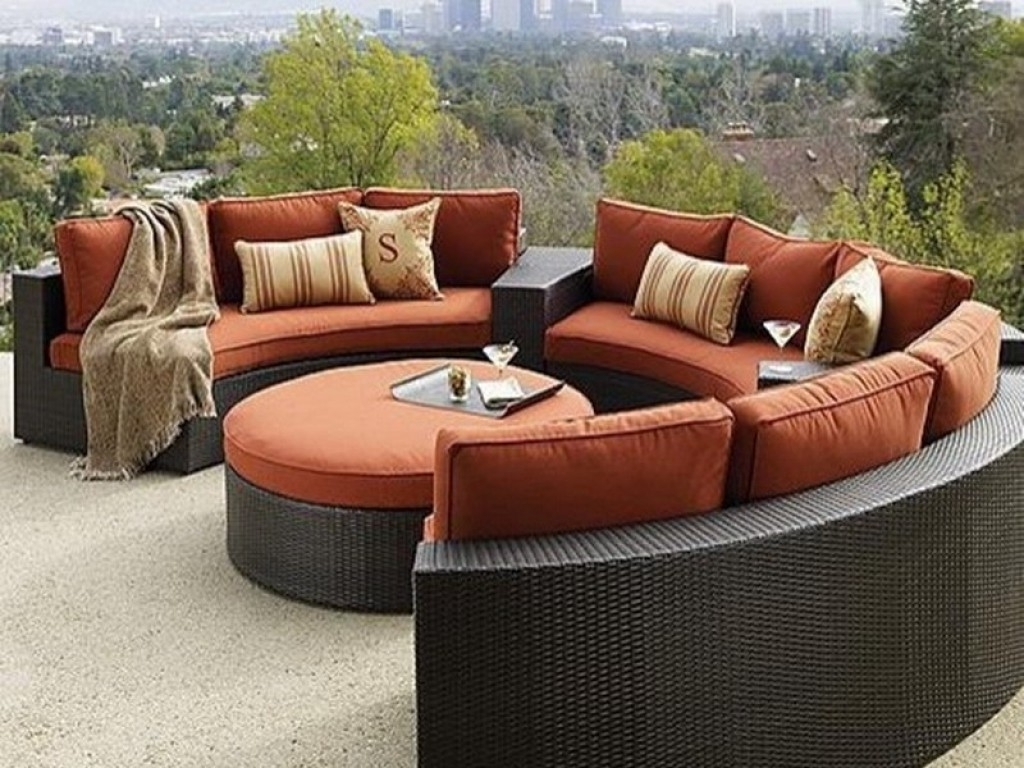 Trendy Naples Fl Sectional Sofas Intended For Patio : Outdoor Sectional Furniture Sale L Shaped Outdoor Sofa (View 18 of 20)