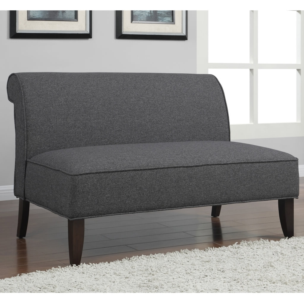 Trendy New Armless Loveseat Settee 48 In Sofa Table Ideas With Armless Inside Small Armless Sofas (View 19 of 20)