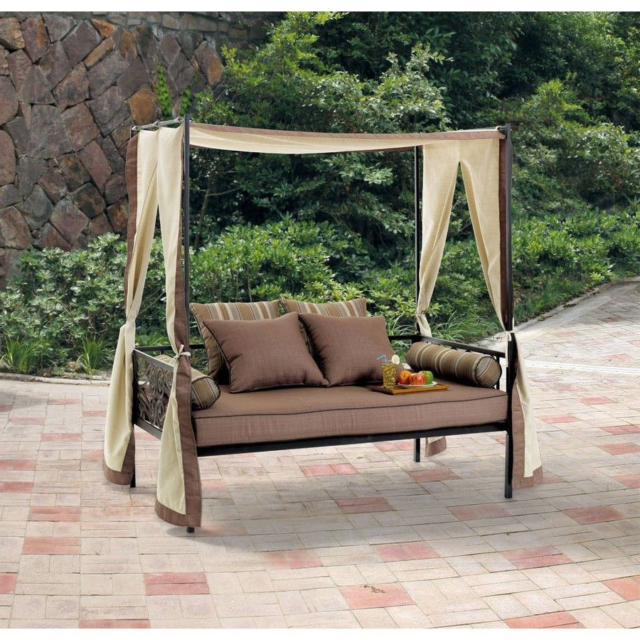 Trendy Outdoor Patio Furniture Day Bed Lounge With Canopy, Sun Shade Only In Outdoor Sofas With Canopy (View 2 of 20)