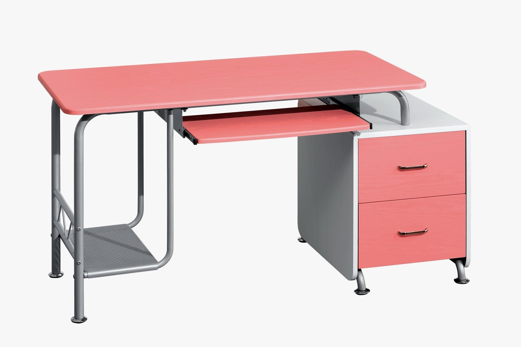 Trendy Pink Computer Desks With Techni Mobili Wood Computer Desk In Pink And White – Walmart (View 19 of 20)