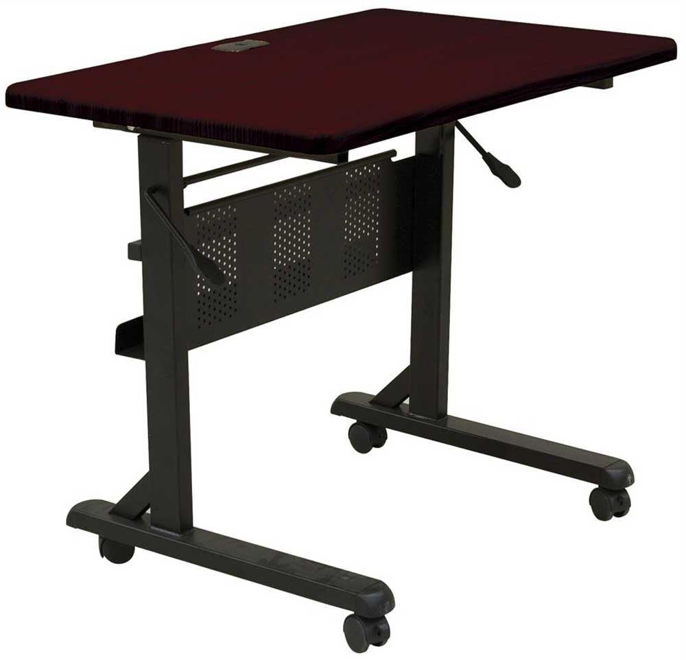 Trendy Portable Office Tables, Rolling Desk Table Puter Desk Within Computer Desks With Wheels (View 17 of 20)