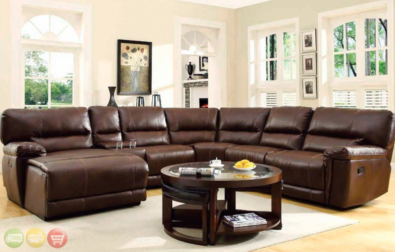 Trendy Recliner : Ideal Sectional Sofa With Recliner Leather Hypnotizing Within Sectional Sofas At Bangalore (View 17 of 20)