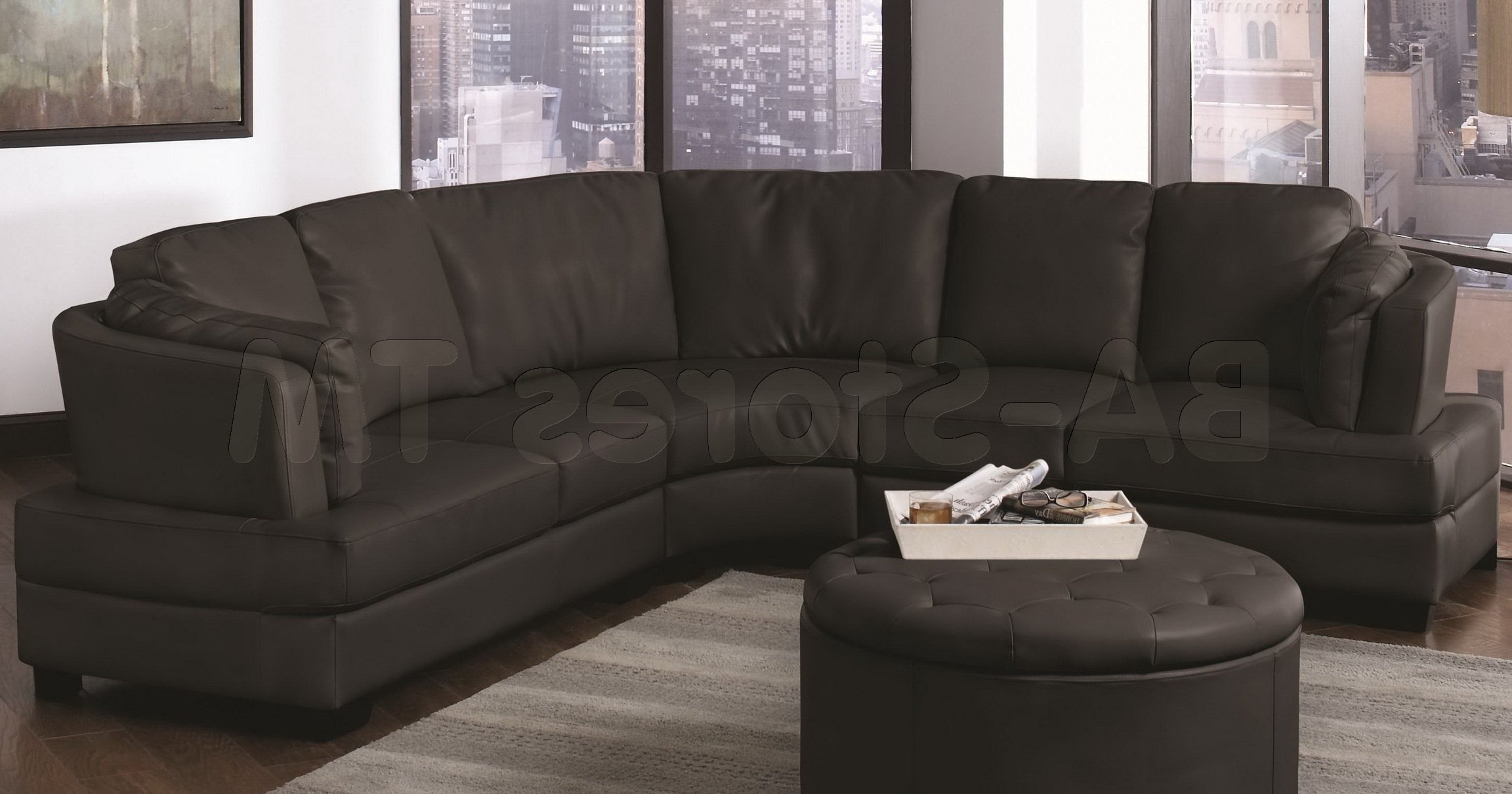 Trendy Round Sectional Sofas For Curved Sectional Sofa In Perfect Decoration — The Kienandsweet (View 10 of 20)