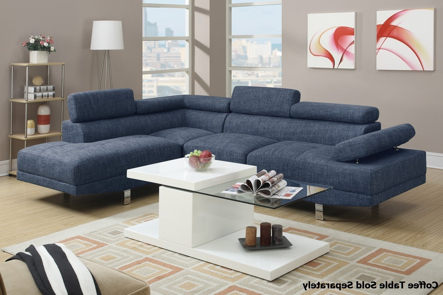Trendy Royal Blue Sectional Sofa Suitable With Blue Velvet Sectional Sofa Throughout Blue Sectional Sofas (View 5 of 20)