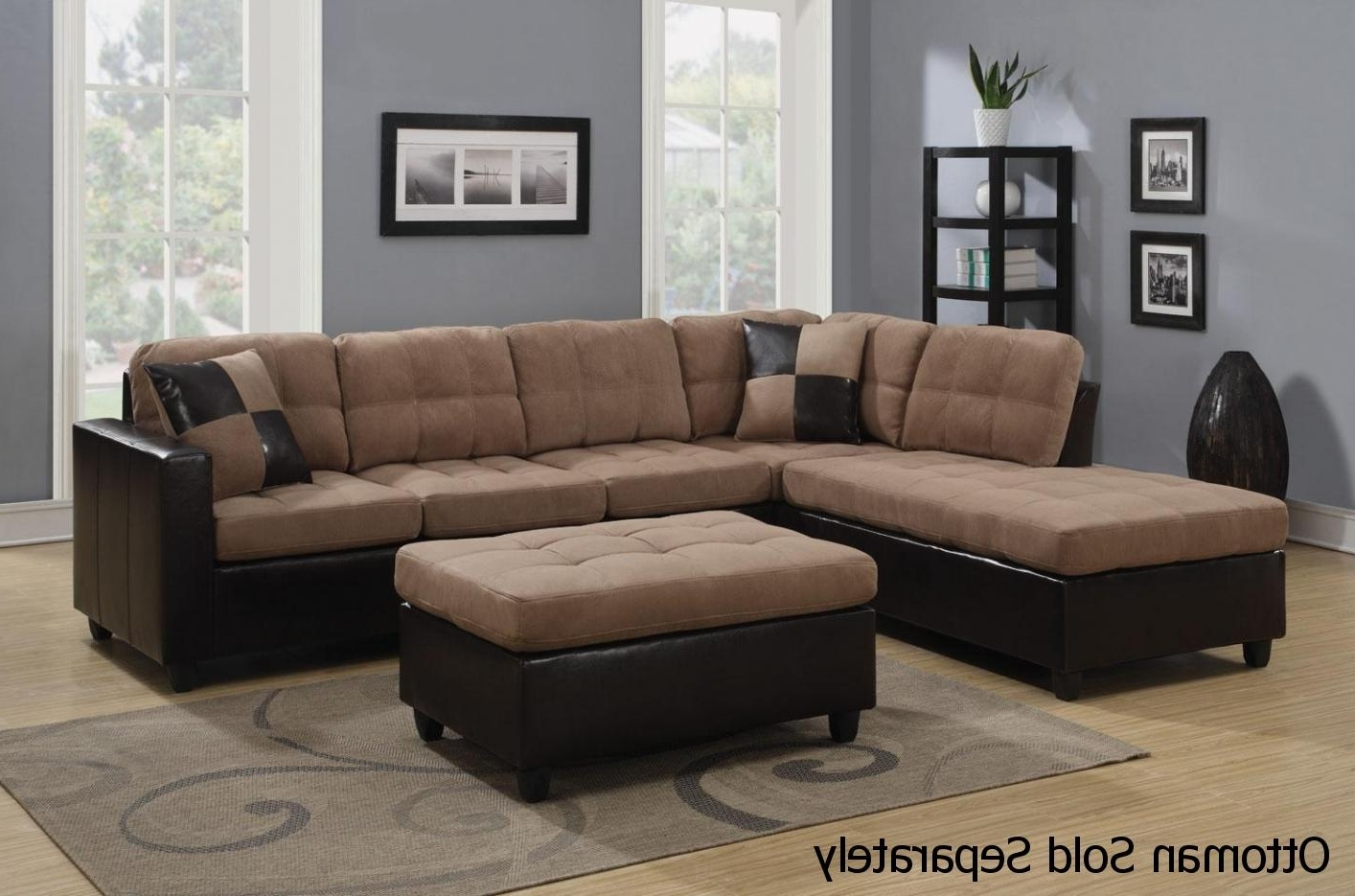 Trendy Sectional Sofas With Regard To Mallory Beige Leather Sectional Sofa – Steal A Sofa Furniture (View 19 of 20)