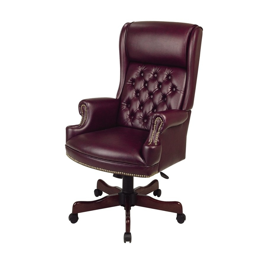 Trendy Shop Office Star Worksmart Jamestown Oxblood/mahogany Traditional With Regard To Unique Executive Office Chairs (View 12 of 20)