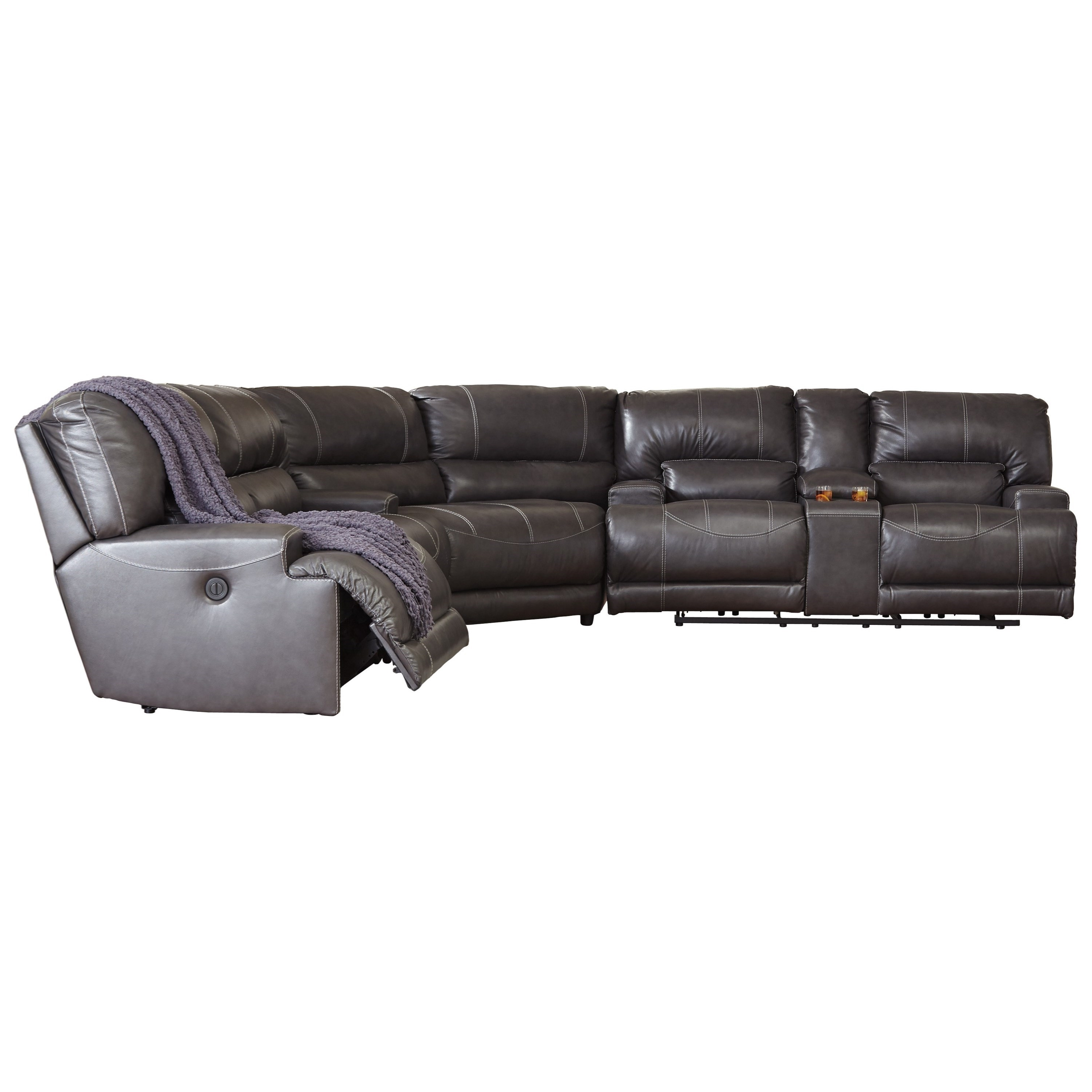 Trendy Signature Designashley Mccaskill Contemporary 3 Piece Leather Throughout Hattiesburg Ms Sectional Sofas (View 14 of 20)
