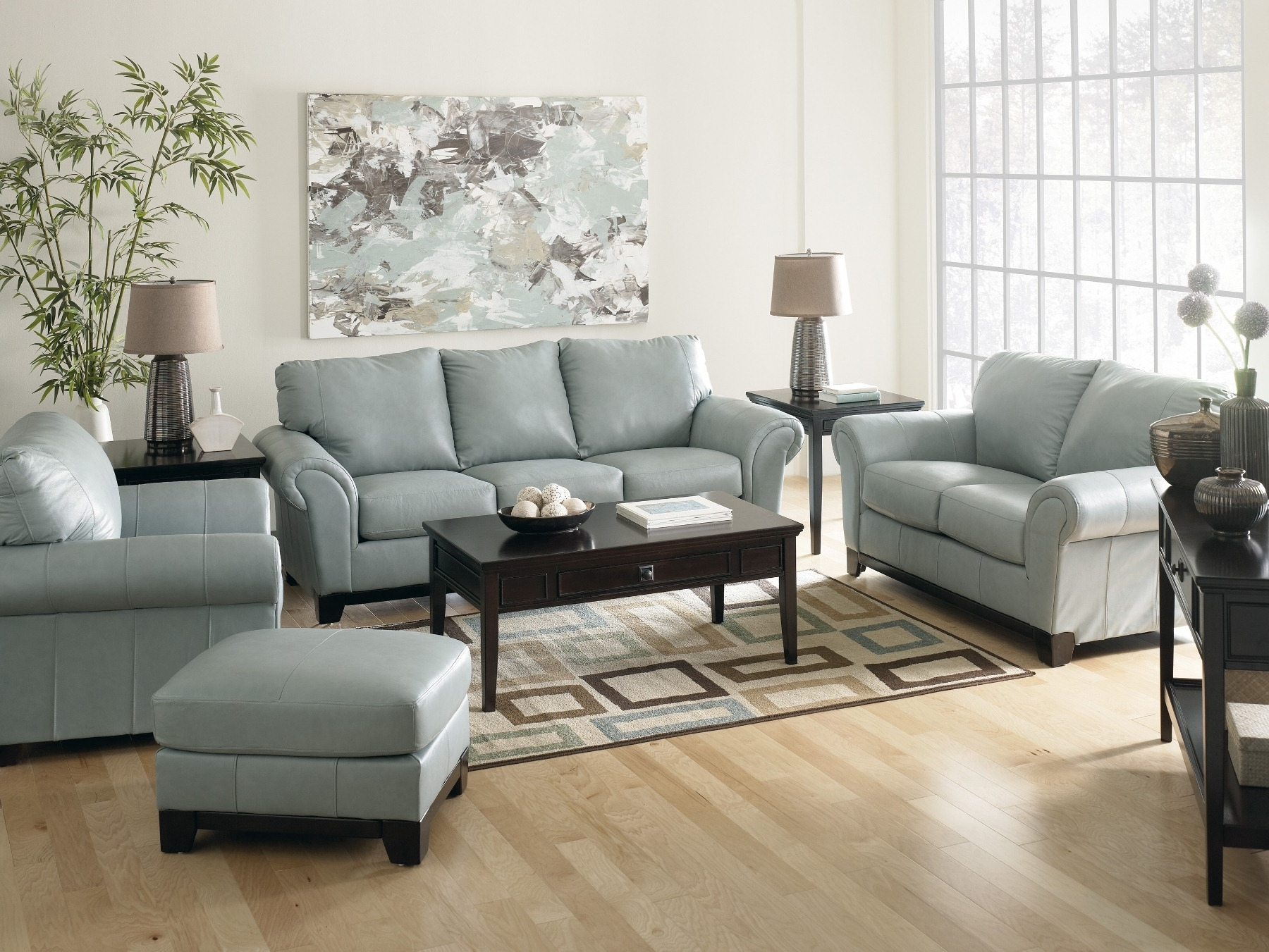 Trendy Sofa : Leather Sleeper Sofa Sky Blue Sofa Leather Furniture Dark In Blue Sofa Chairs (View 11 of 20)