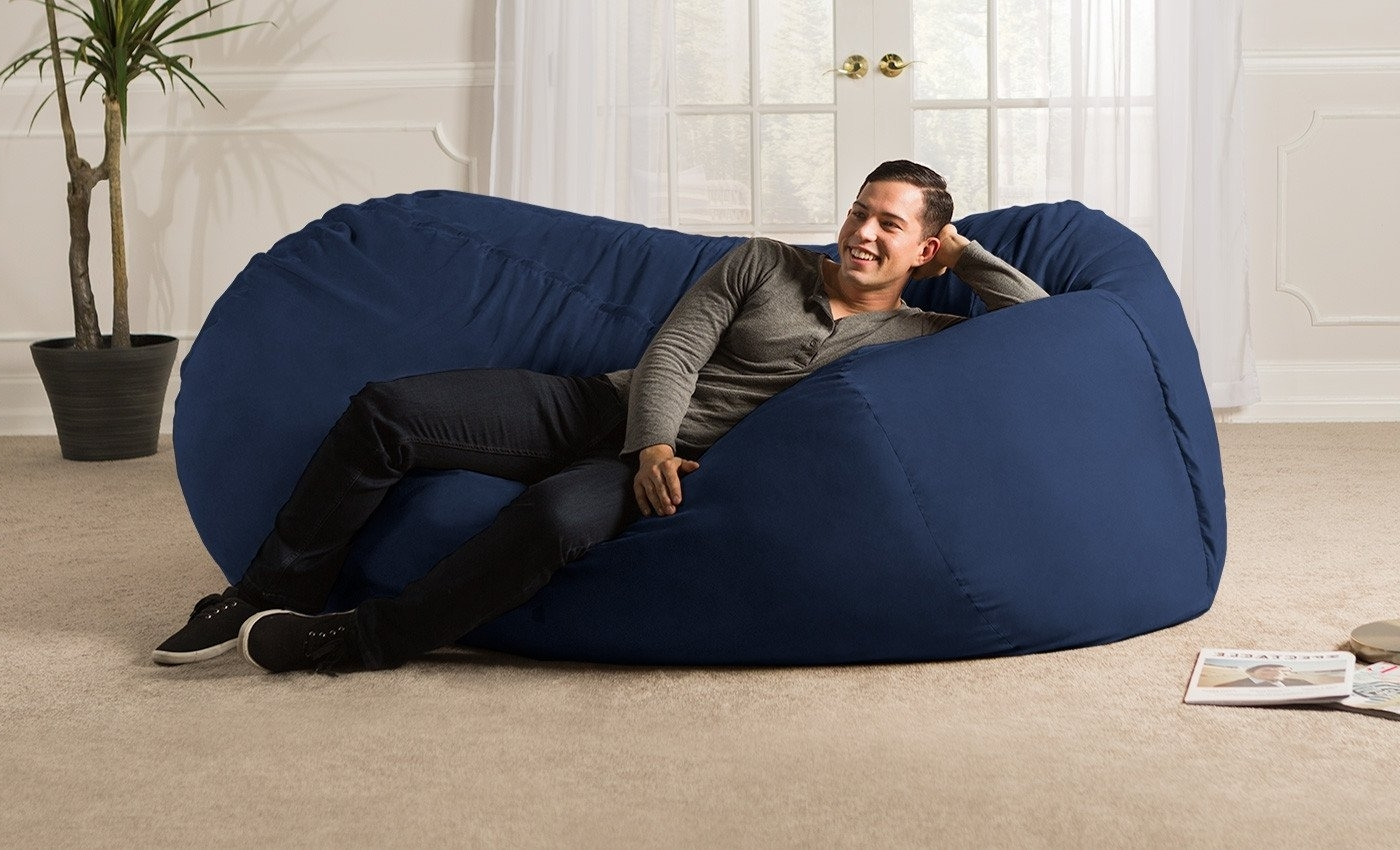 Trendy Sofa Saxx Giant Bean Bag Lounger (View 15 of 20)