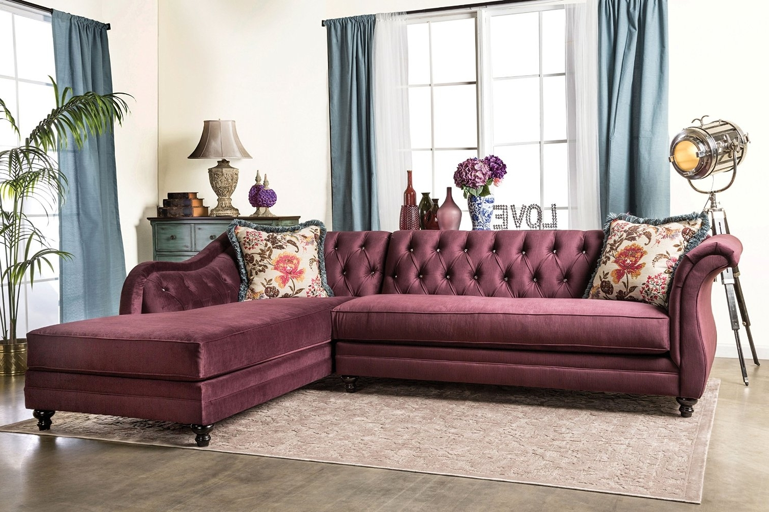 Featured Photo of Tufted Sectional Sofas With Chaise