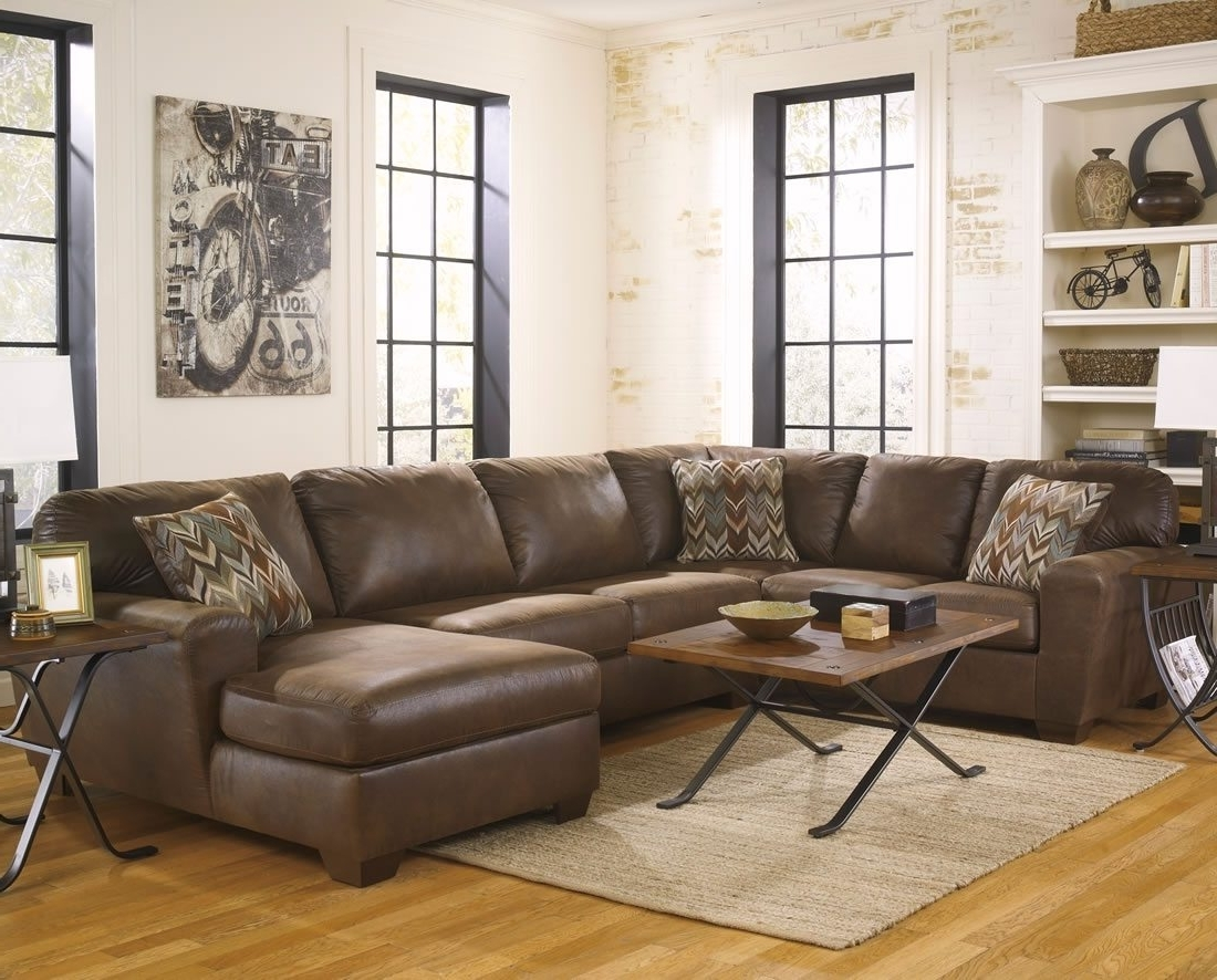Trendy Sofa : U Shaped Sectional Sofa Red Leather Sofa' Bob Furniture With Big U Shaped Sectionals (View 15 of 20)
