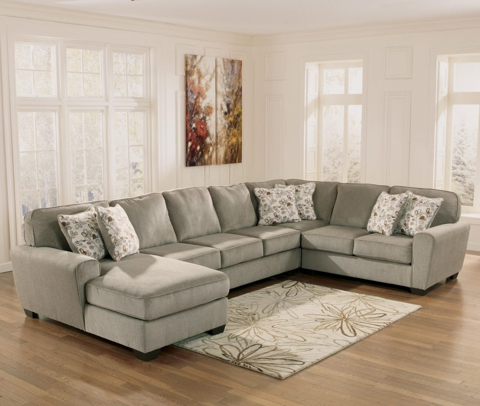 Trendy Sofas Ashley Furniture Chaise Sofa Leather Inside Sectional At