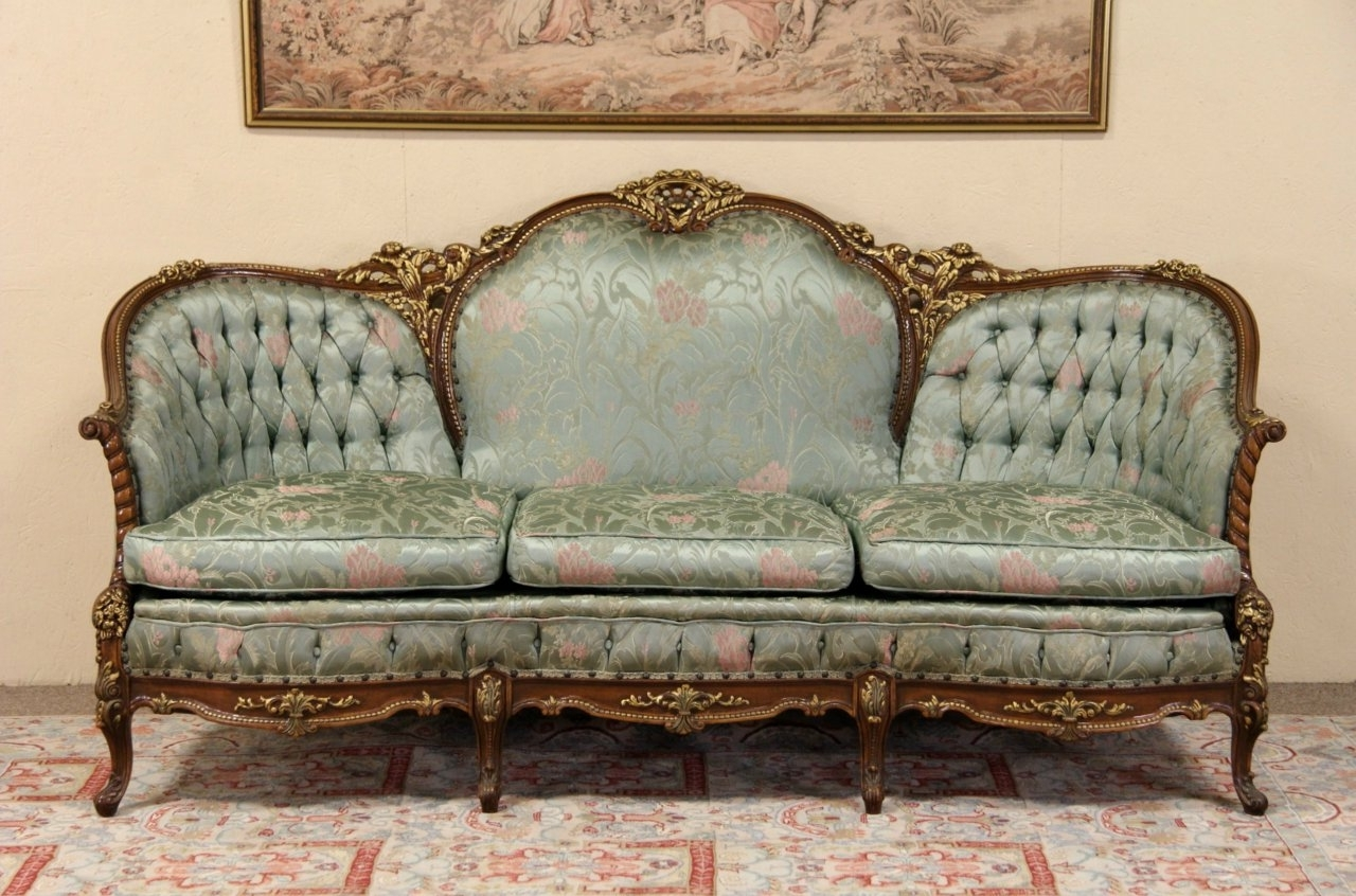Trendy Sold – French Style Carved 1940's Vintage Sofa, Original – Harp In French Style Sofas (View 17 of 20)