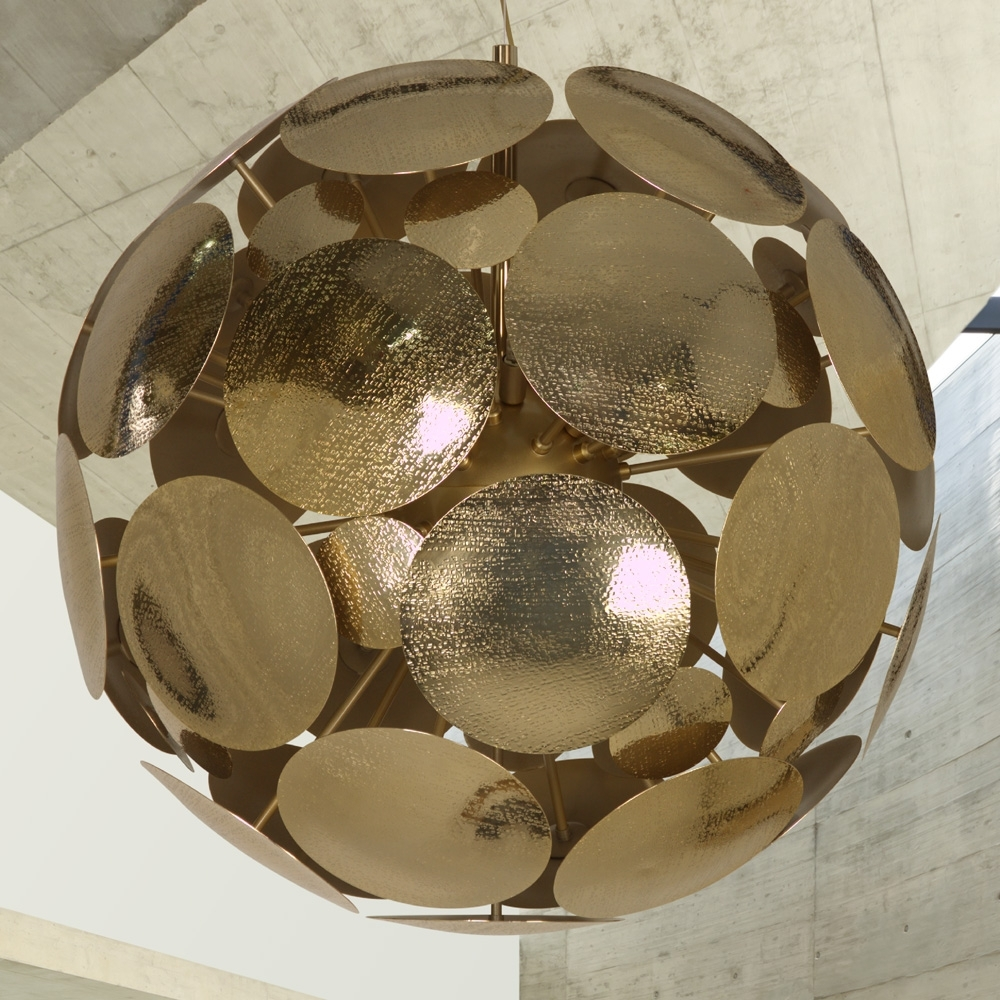 Trendy Sphere Chandelier Intended For Contemporary Gold Plated Italian Sphere Chandelier (View 16 of 20)