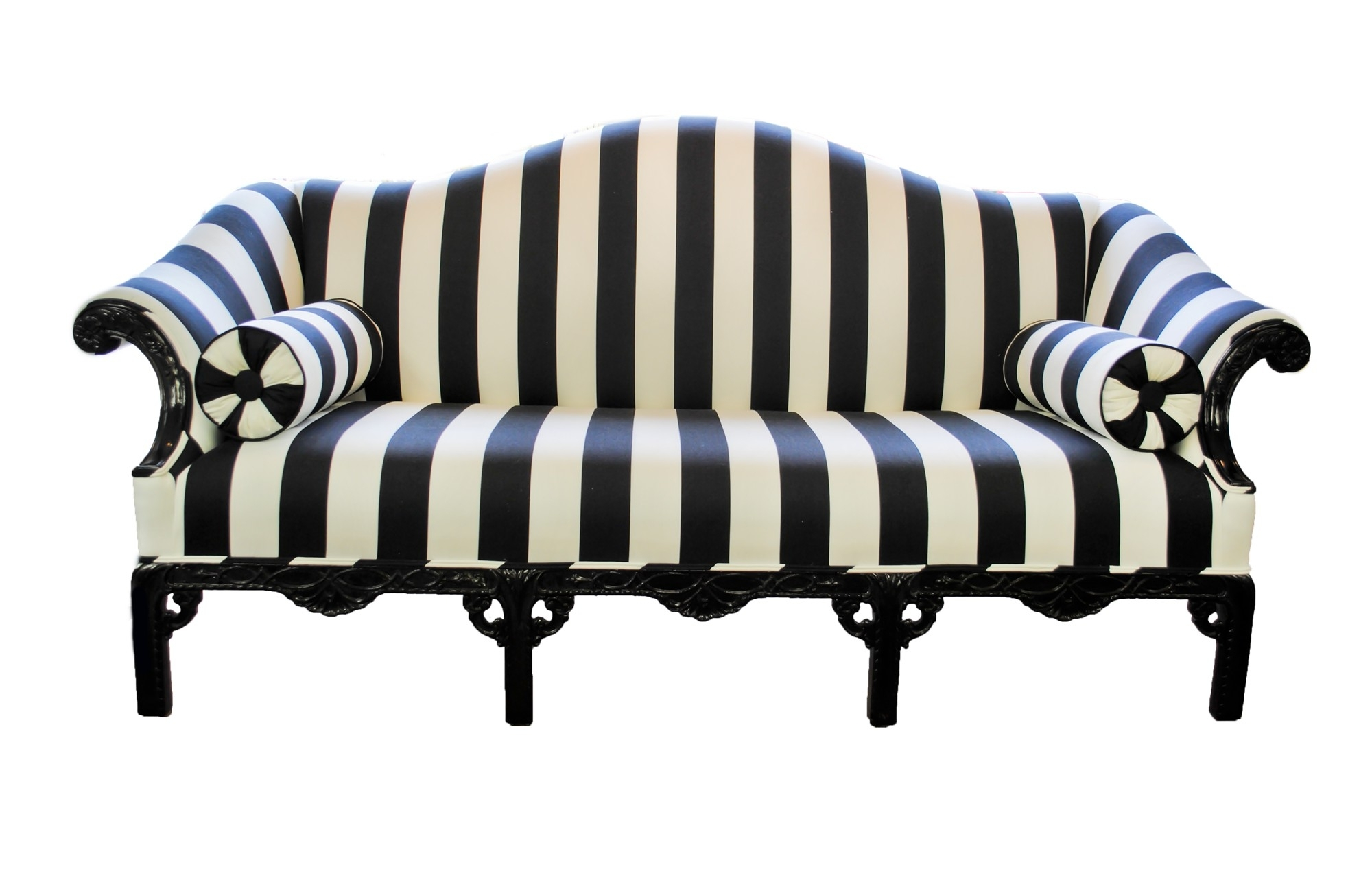 Trendy Striped Sofas And Chairs Throughout Amazing Black And White Striped Sofa 64 In Sofas Couches Set (View 4 of 20)