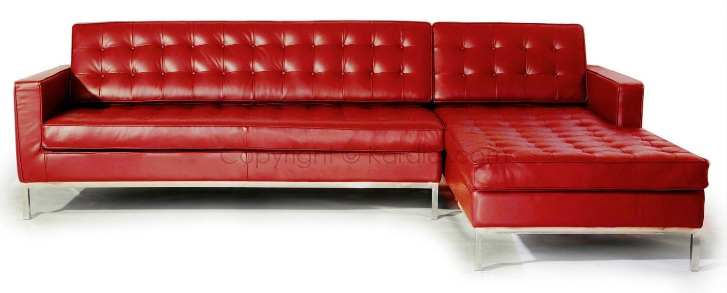Trendy Stylish Modern Red Sectional Sofas With Red Sofa Chairs (View 14 of 20)