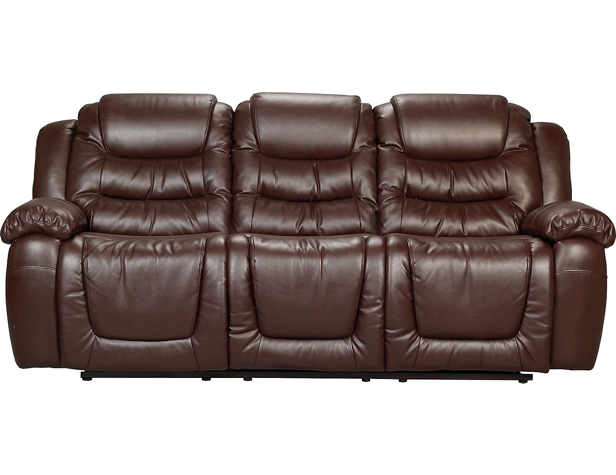 Trendy The Brick Leather Sofas In Maddux Bonded Leather Reclining Sofa – Brown Twin Set (View 18 of 20)
