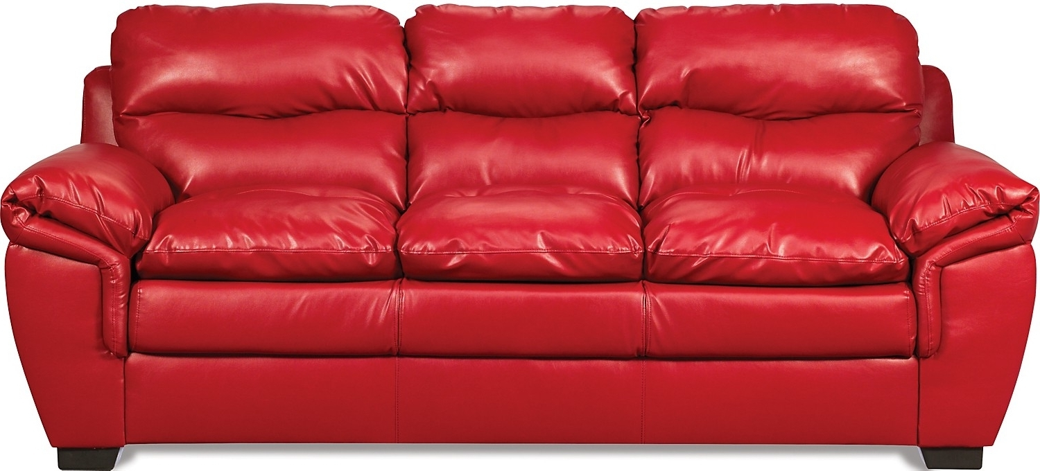 Trendy The Brick Leather Sofas Regarding Red Leather Sofa Entrancing Inspiration Red Leather Sofas For Sale (View 9 of 20)