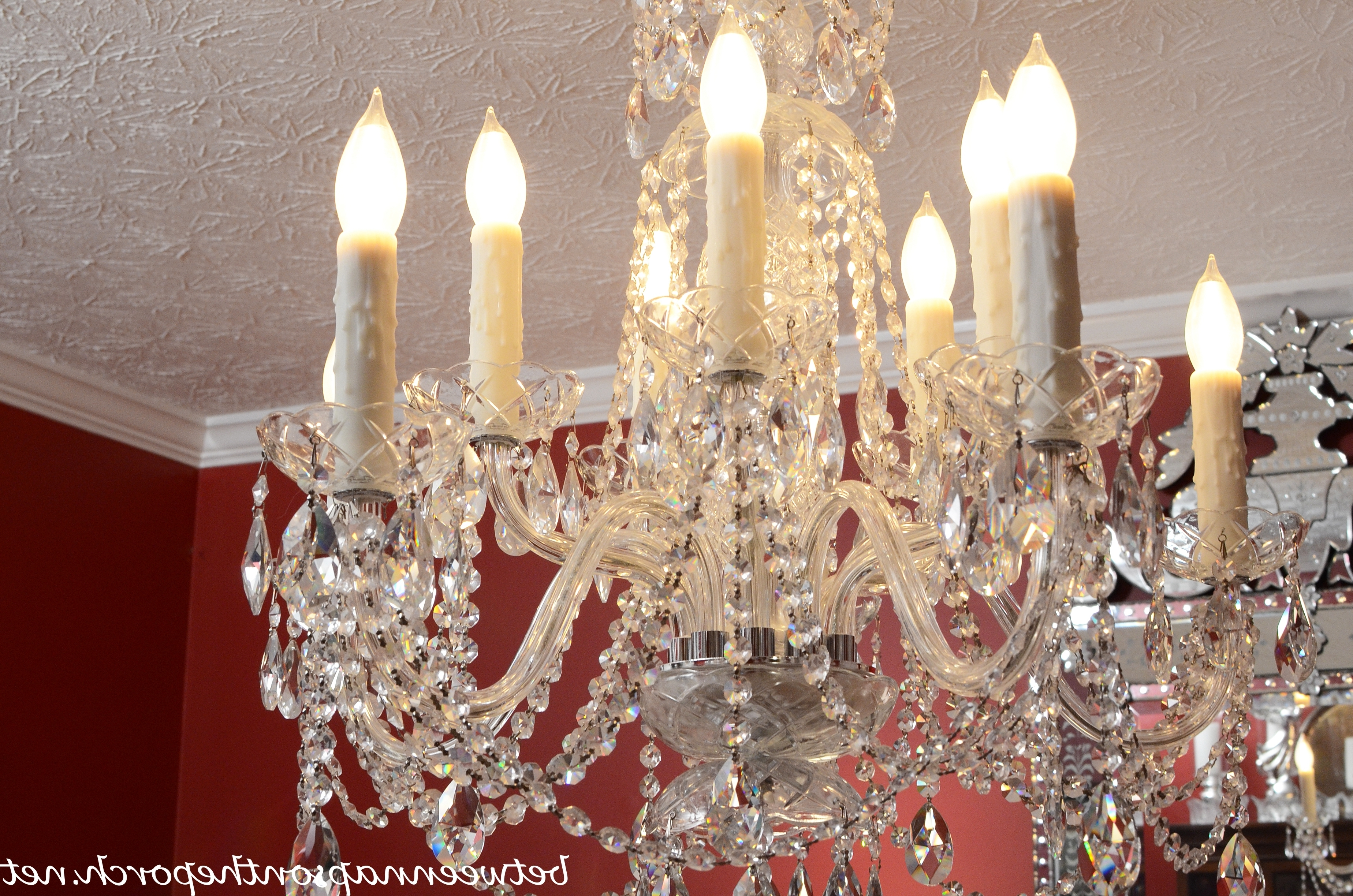Trendy Transform An Ordinary Chandelier With Resin Candle Covers And Silk Within Weird Chandeliers (View 13 of 20)